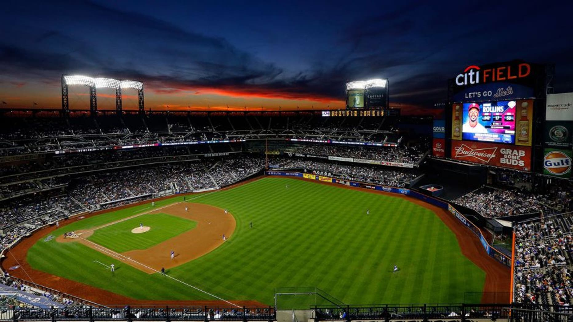 NEW YORK, NY - AUGUST 29: A general view as the sun sets during a game between the New York Mets and the Philadelphia Phillies in the third inning at Citi Field on August 29, 2014 in the Flushing neighborhood of the Queens borough of New York City. (Photo by Jim McIsaac/Getty Images)