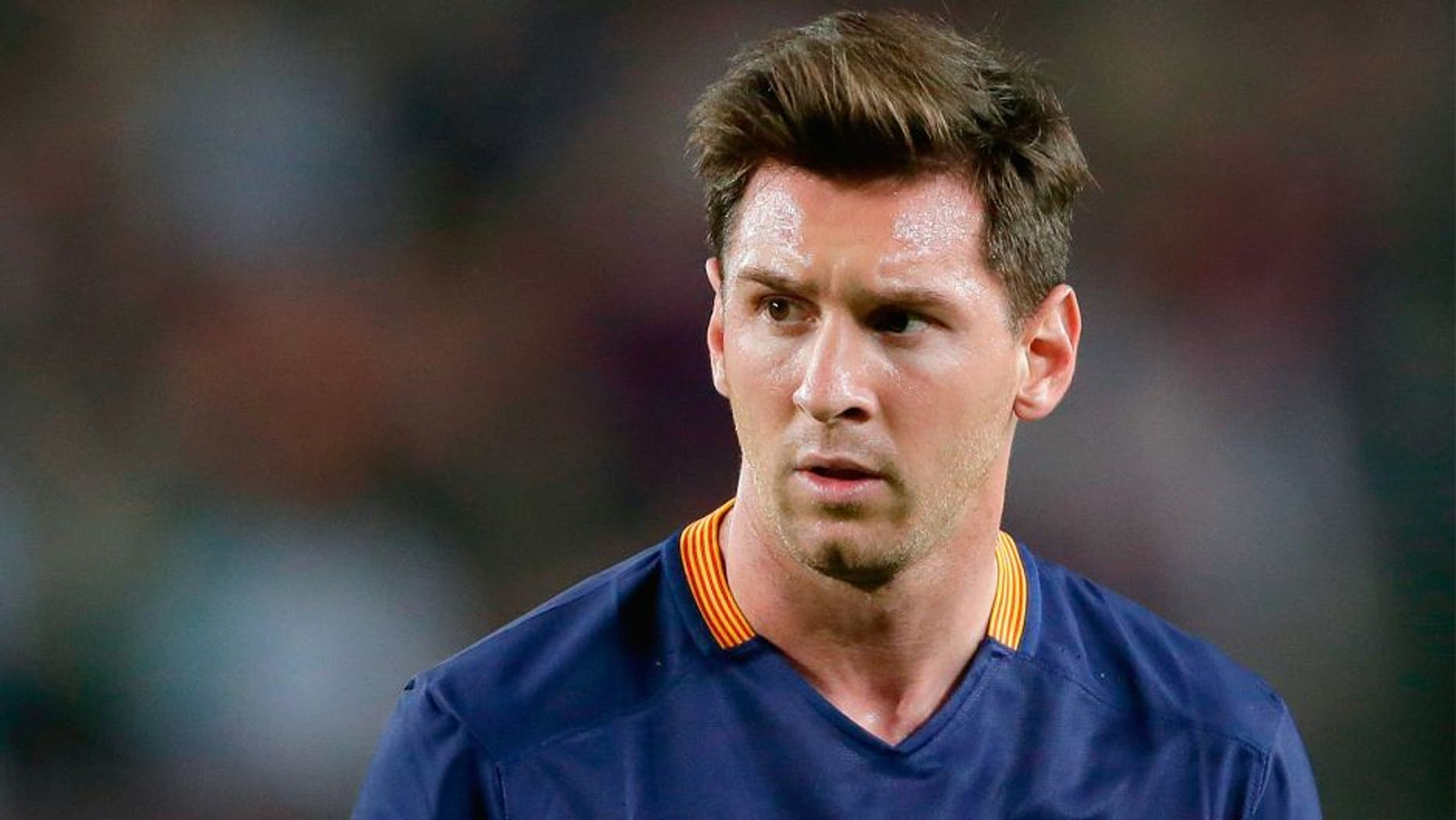 Lionel Messi of FC Barcelona during the Primera Division match between FC Barcelona and Levante UD on September 20, 2015 at Camp Nou stadium in Barcelona, Spain.(Photo by VI Images via Getty Images)
