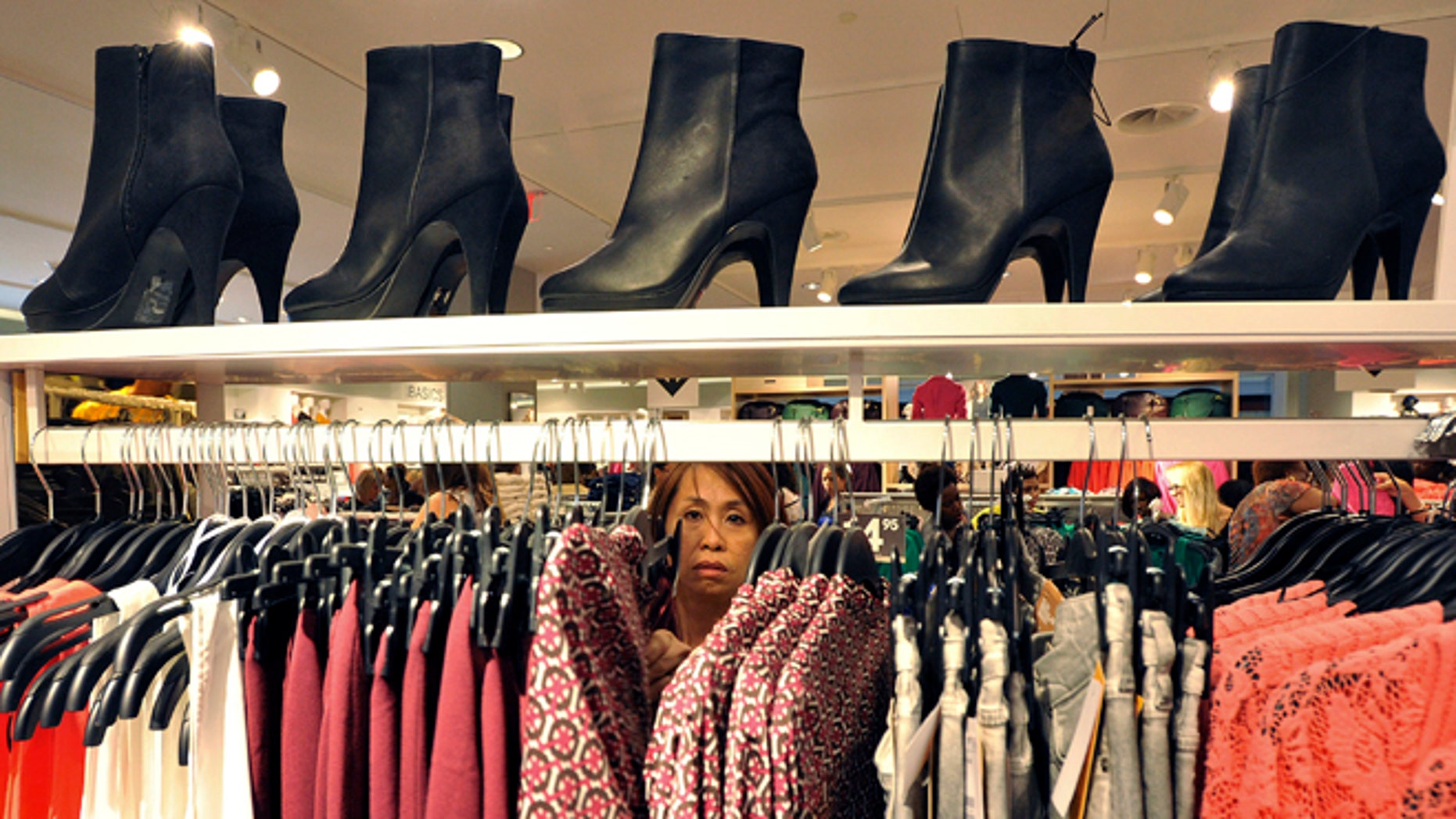 Sept. 6, 2012: A woman shops at The Avenues Mall in Jacksonville, Fla.
