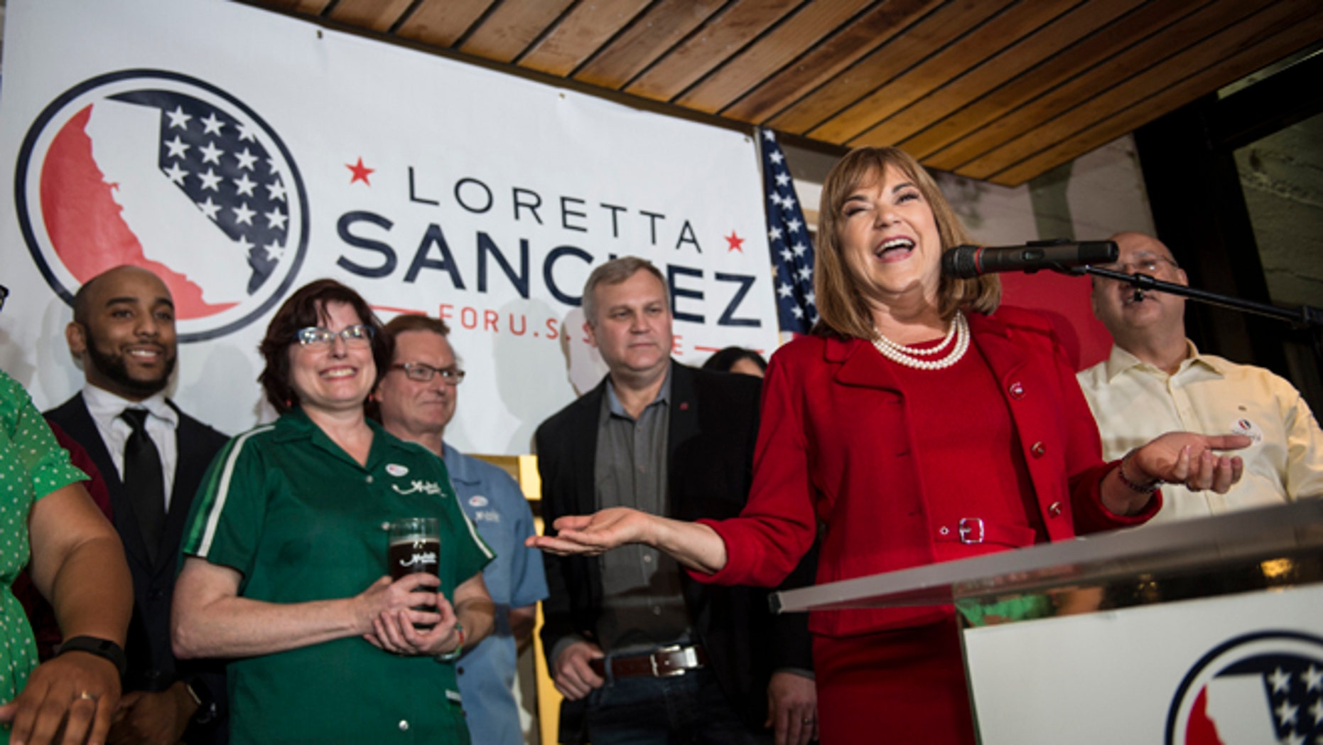 U.S. Congresswoman Loretta Sanchez at Anaheim Brewery in Anaheim, Calif., on Tuesday, June 7, 2016.