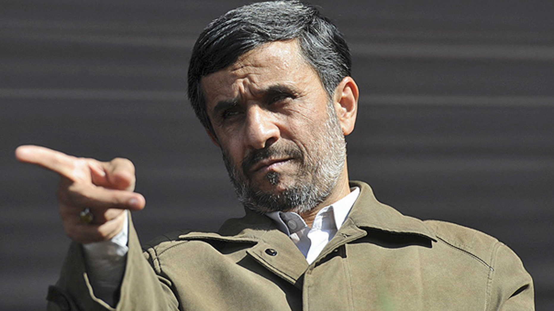Nov. 10: Iranian President Mahmoud Ahmadinejad gestures prior to delivering his speech at a public gathering during his provincial tour in the city of Qazvin about 90 miles west of the capital Tehran.