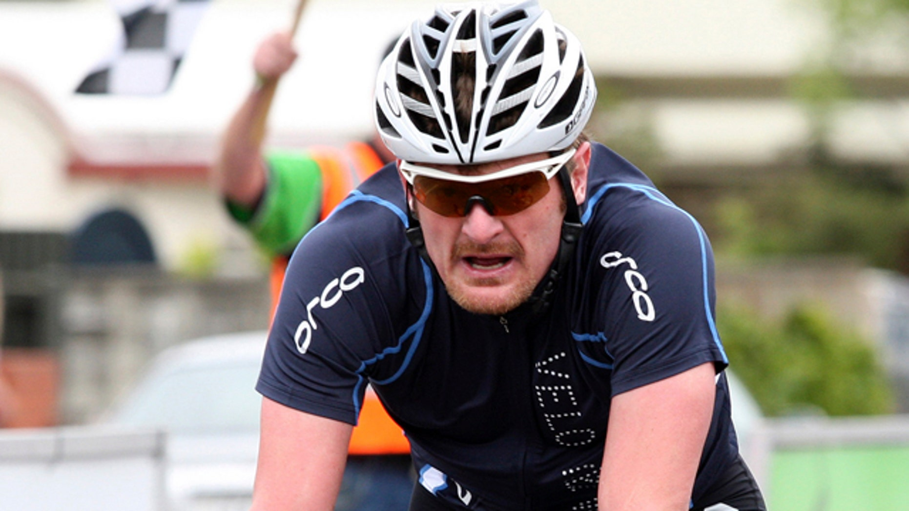 Nov. 1: Orca Velo Merino's Floyd Landis of the U.S. crosses the finish line in the team time trial, stage 1 of the PowerNet Tour of Southland cycling in Invercargill, New Zealand.