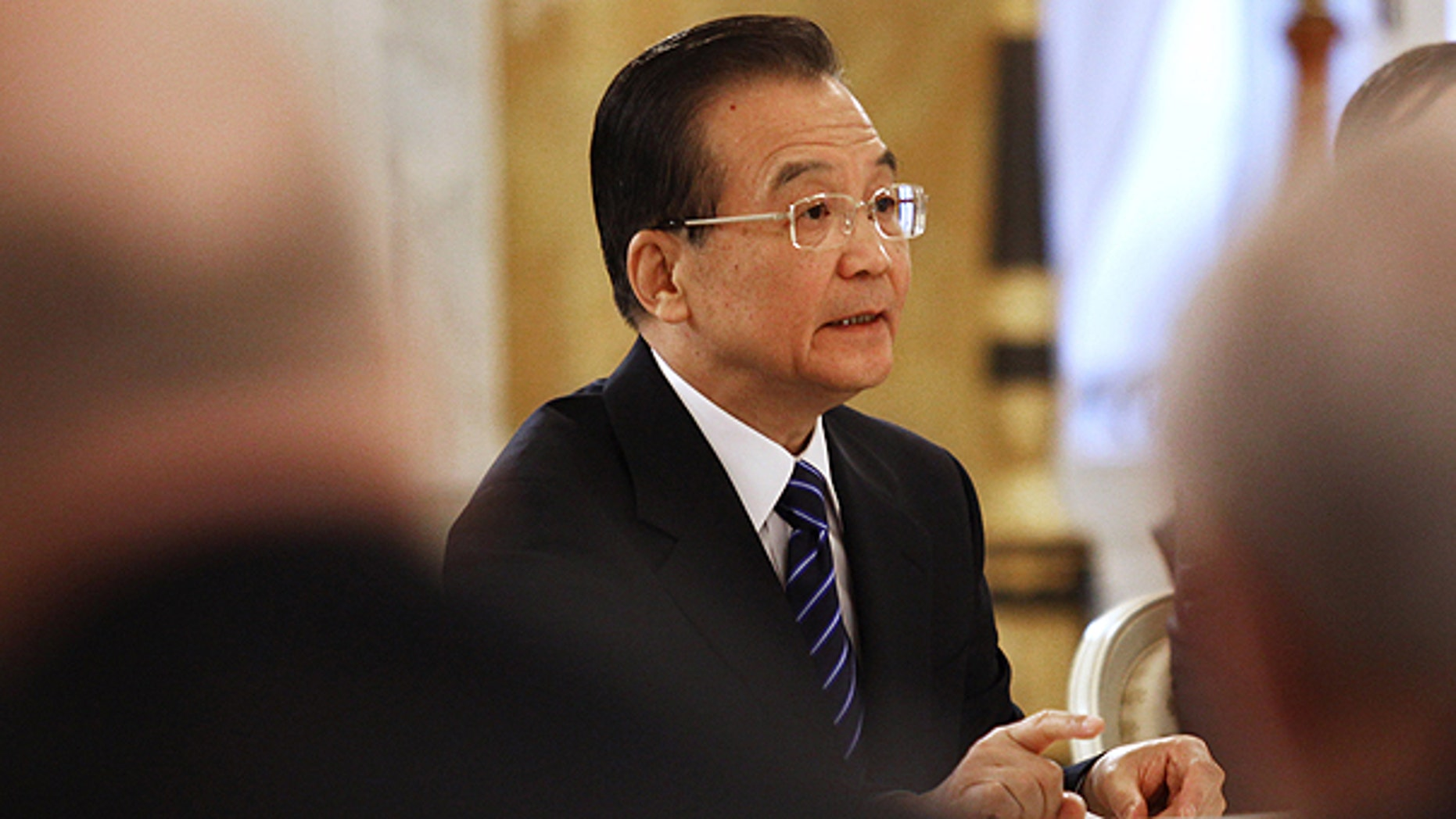 Nov. 23: Chinese Prime Minister Wen Jiabao speaks during his meeting with his Russian counterpart Vladimir Putin, in St.Petersburg, Russia.