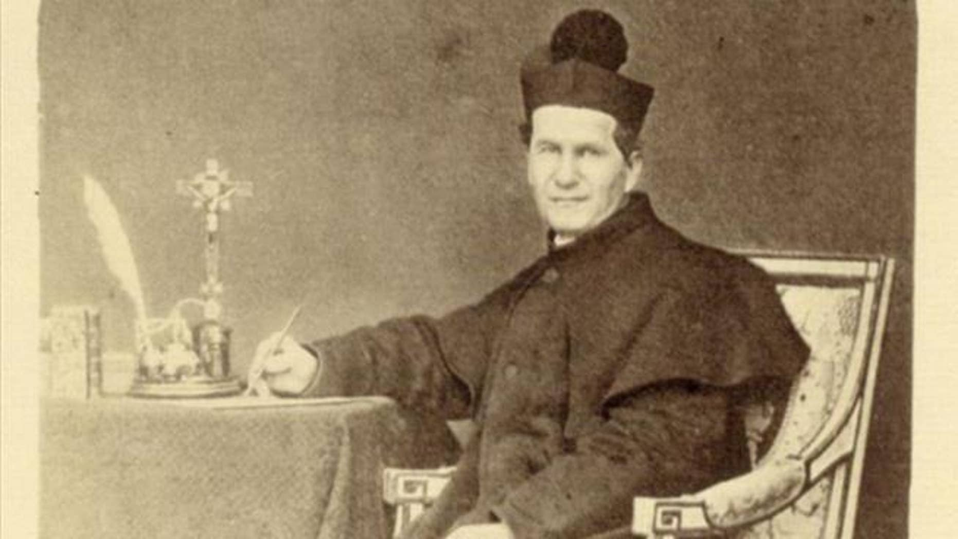 The relic of St. John Bosco, pictured here, was stolen from a church in Castelnuovo, Italy.
