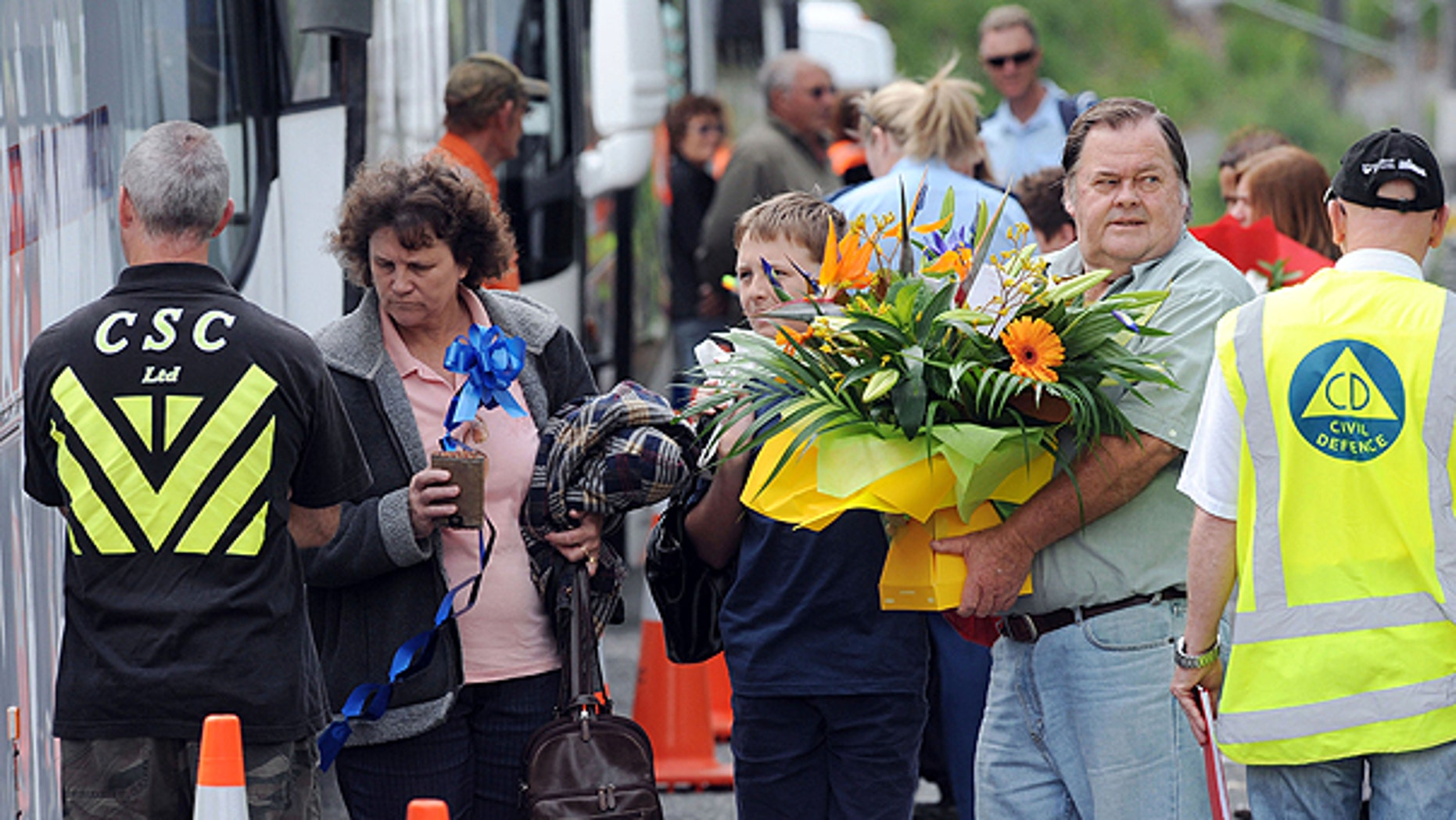Nov. 27: Family members catch buses to visit the Pike River Coal mine where 29 miners are killed after being trapped underground following an explosion in Greymouth, New Zealand.