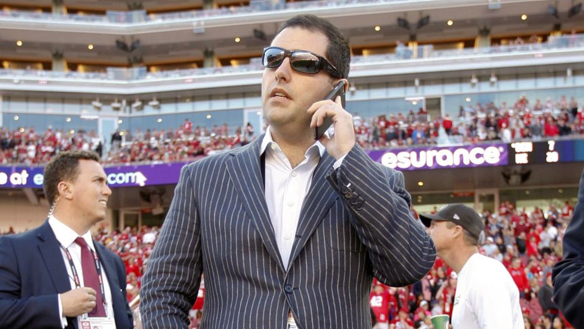 SANTA CLARA, CA - NOVEMBER 2: CEO Jed York of the San Francisco 49ers stands on the sideline during halftime of the game against the St. Louis Rams at Levi Stadium on November 2, 2014 in Santa Clara, California. The Rams defeated the 49ers 13-10. (Photo by Michael Zagaris/San Francisco 49ers/Getty Images)
