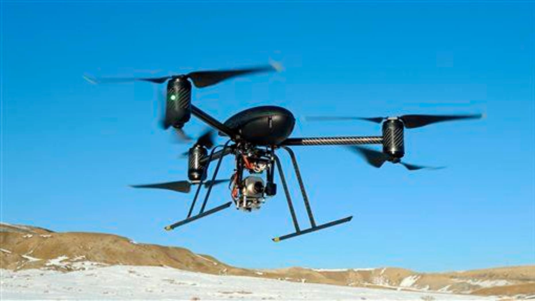 File photo of a drone, this one used by the Mesa County, Colo., Sheriff's Department.