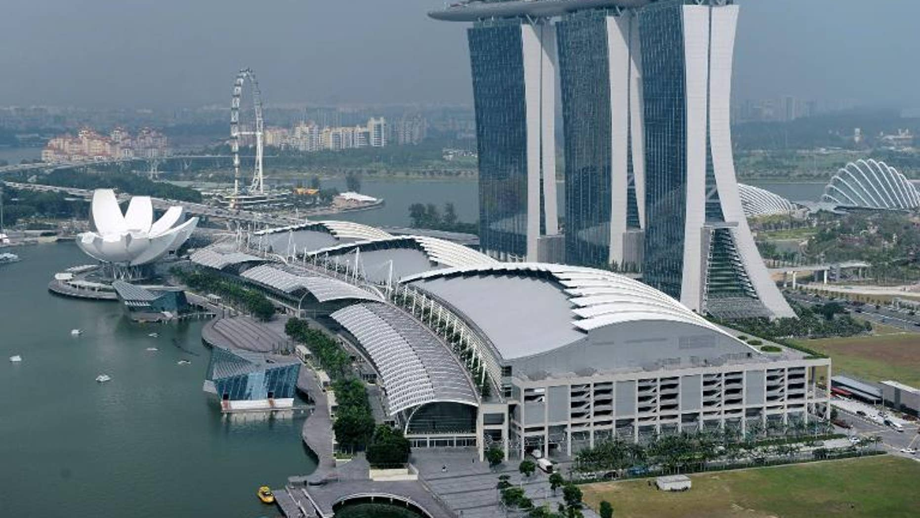 A view of Singapore including Marina Bay Sands hotels and casino, pictured on January 17, 2012