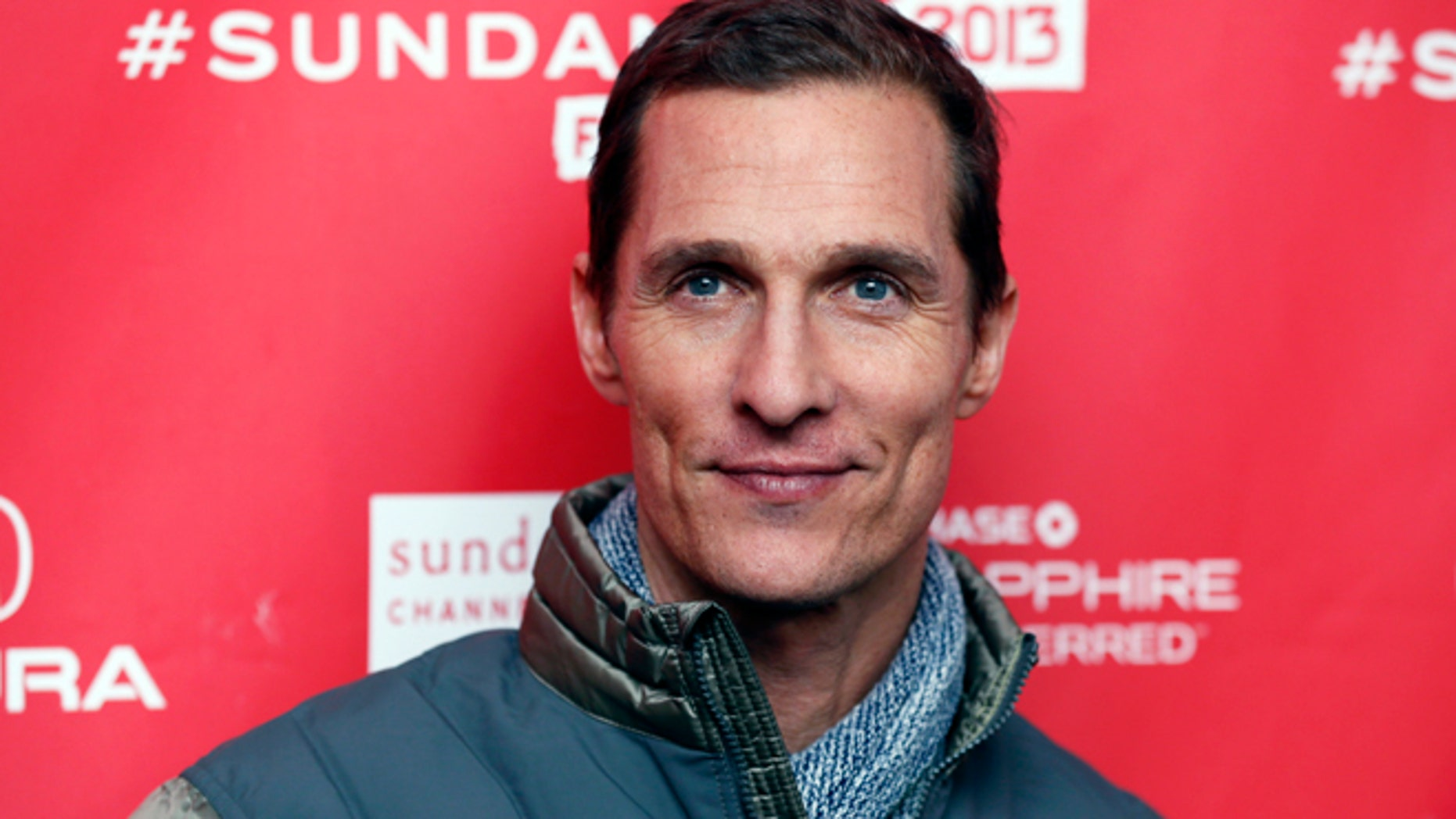 """Cast member Matthew McConaughey poses at the premiere of """"Mud"""" during the 2013 Sundance Film Festival on Saturday, Jan. 19, 2013 in Park City, Utah."""