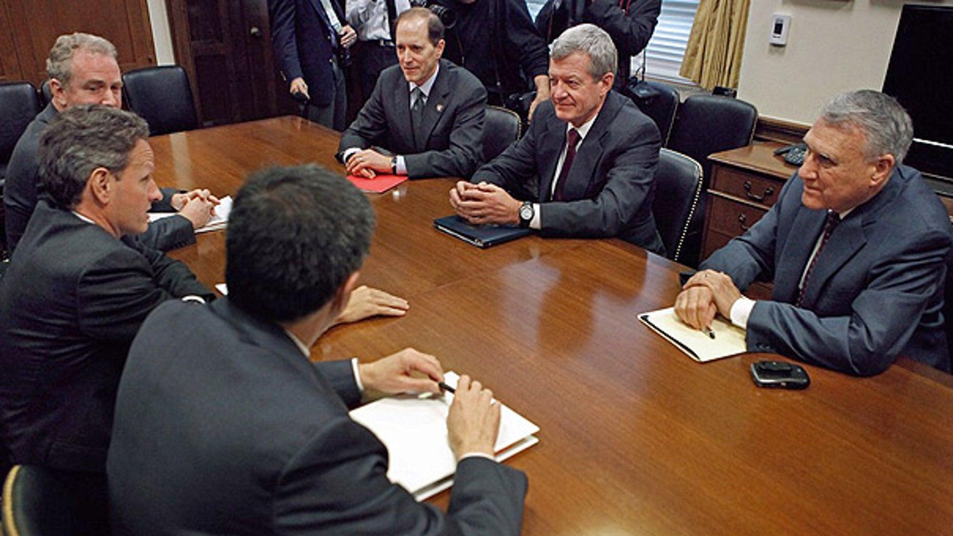 Dec. 1: Treasury Secretary Timothy Geithner, OMB Director Jacob Lew, Rep. Dave Camp (R-MI), Senate Finance Committee Chairman Max Baucus (D-MT) and Sen. Jon Kyl (R-AZ) meet to discuss extending Bush-era tax cuts in Washington.