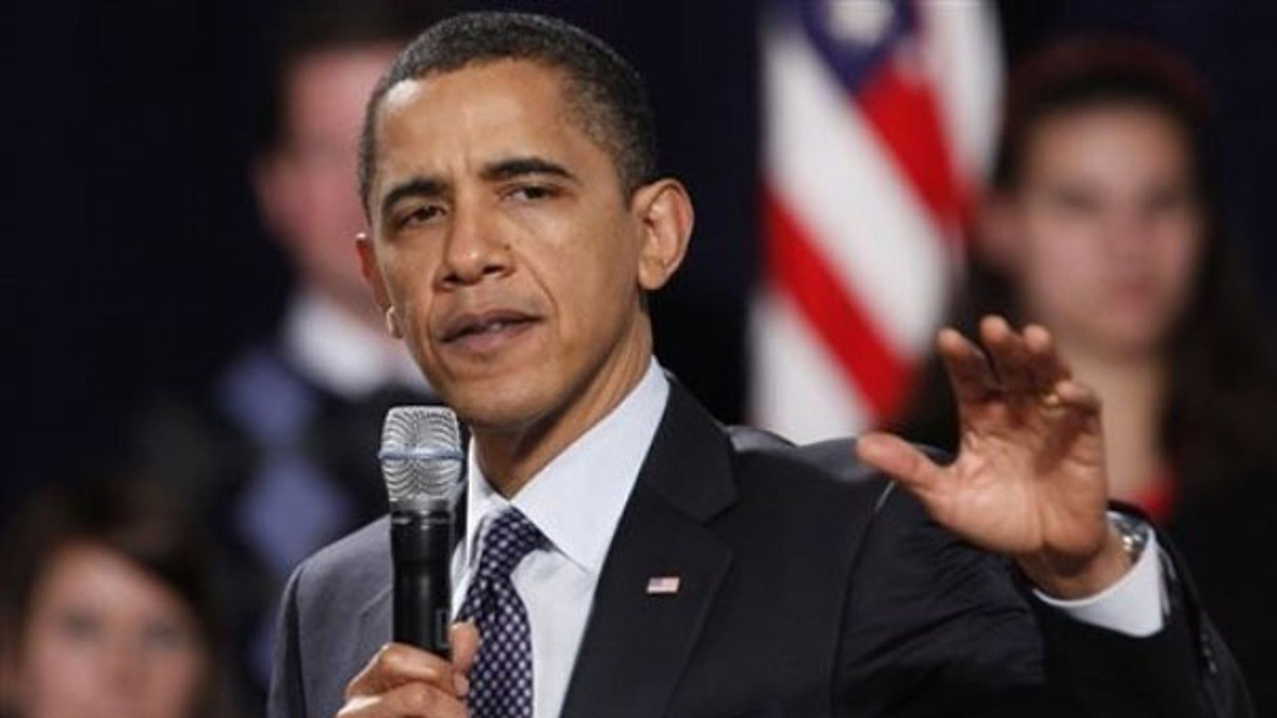 Dec. 4: President Obama gestures while making remarks at Lehigh Carbon Community College in Schnecksville, Pa. (AP).