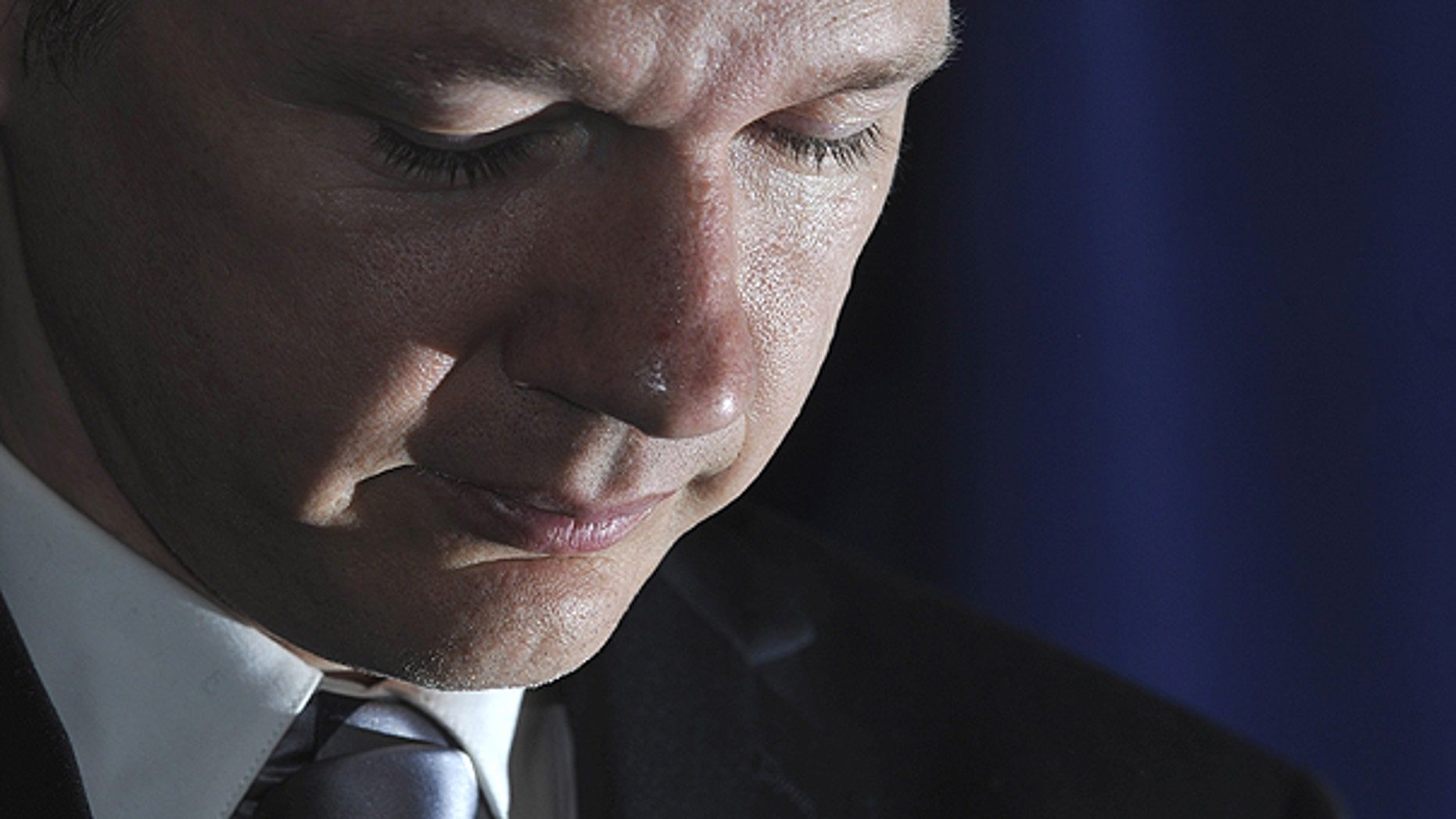 In this Oct. 23, 2010 file photo, WikiLeaks founder Julian Assange, speaks during a news conference in London.  (AP)