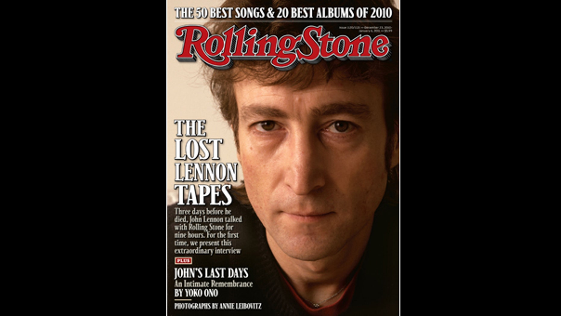 Former Beatle John Lennon is shown on the cover of the Dec. 23, 2010 issue of 'Rolling Stone.'