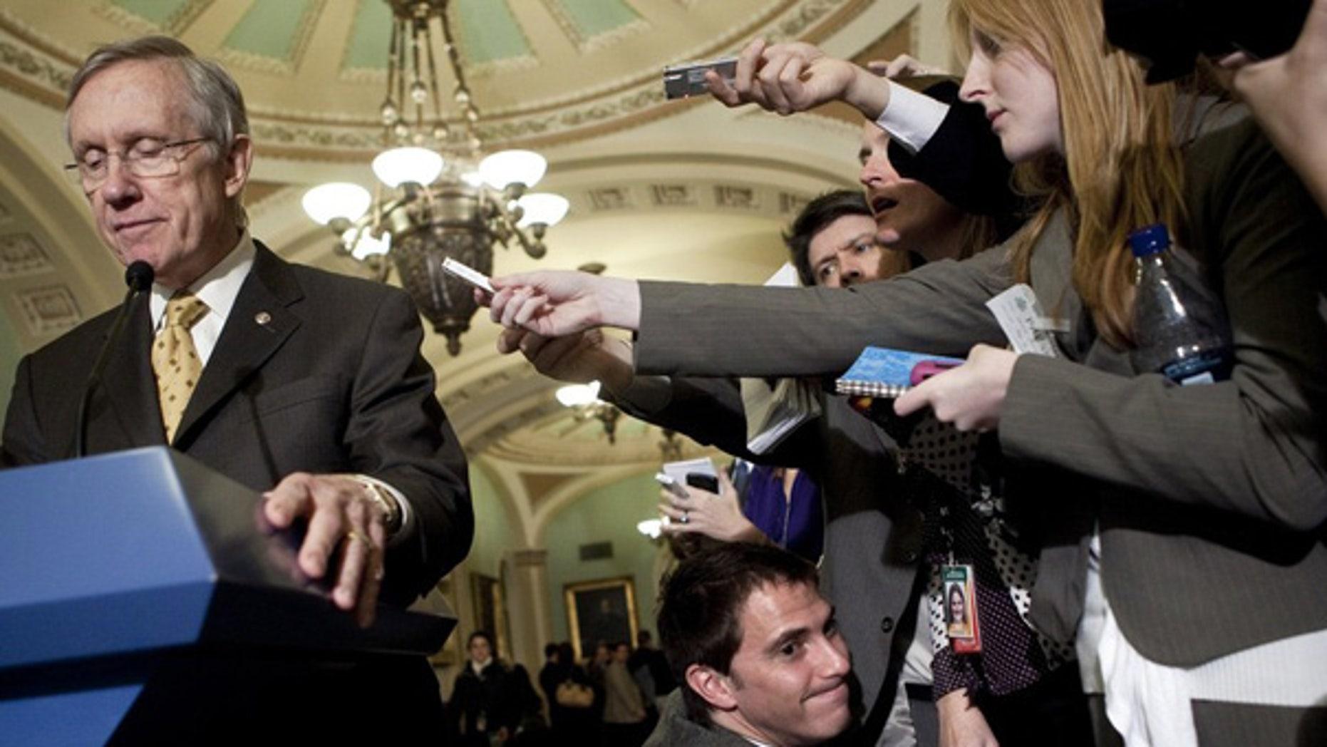 Dec. 7: Senate Majority Leader Harry Reid speaks on Capitol Hill.