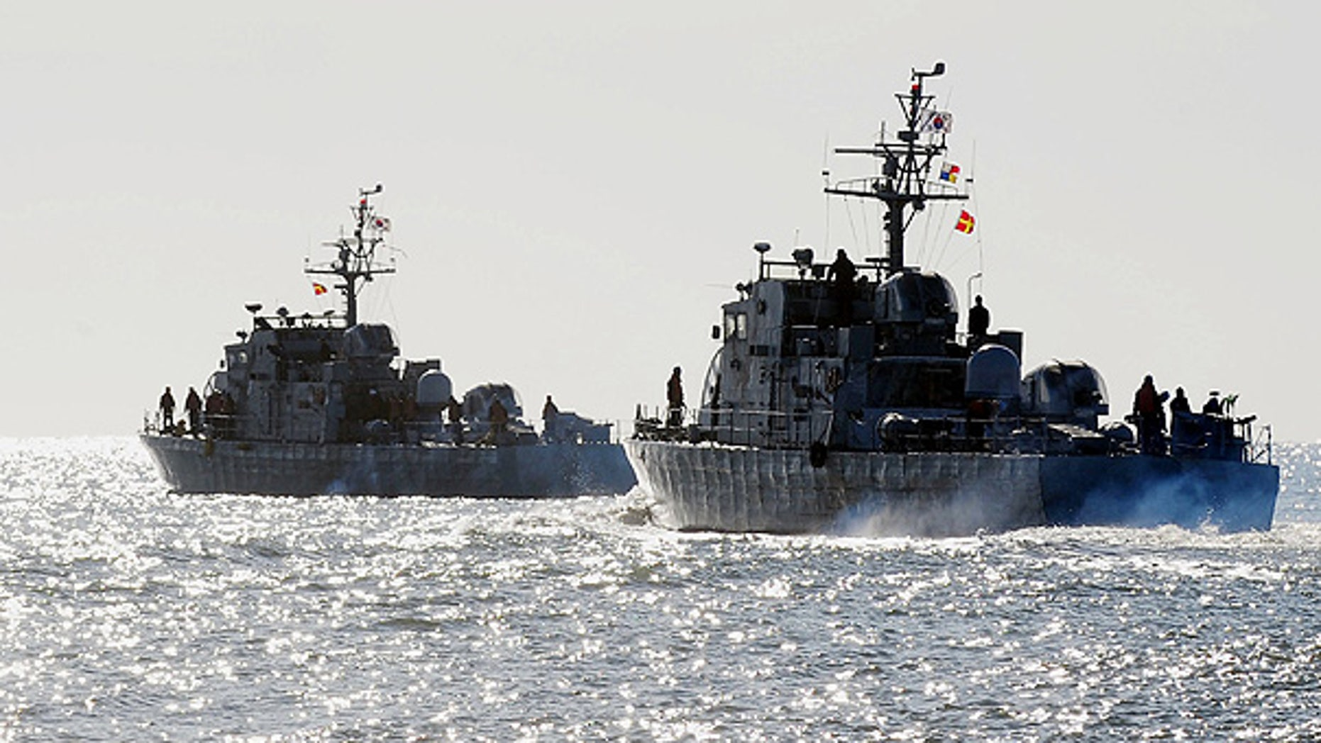 Dec. 7: South Korean Navy ships sail near Yeonpyeong Island.
