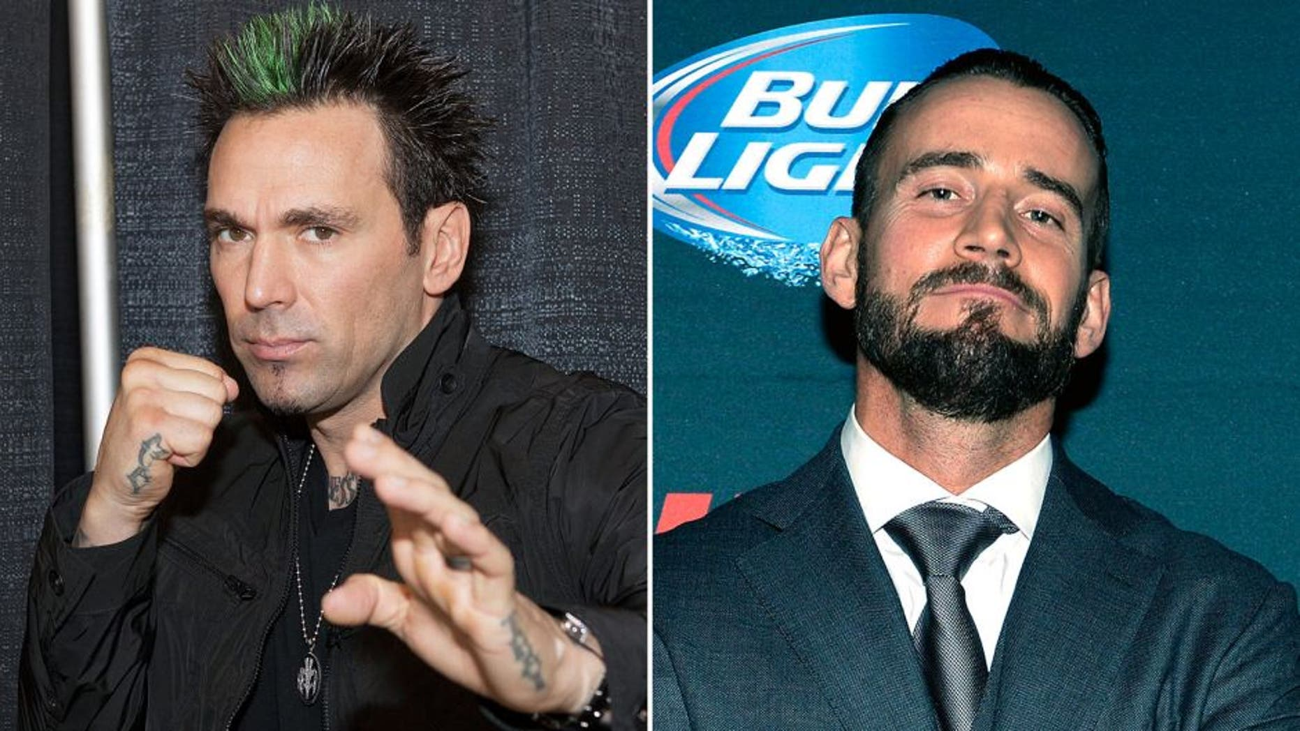 CHICAGO, IL - AUGUST 23: Jason David Frank attends Wizard World Chicago Comic Con 2014 at Donald E. Stephens Convention Center on August 23, 2014 in Chicago, Illinois. (Photo by Gabriel Grams/FilmMagic) LAS VEGAS, NV - DECEMBER 06: Phil 'CM Punk' Brooks poses backstage during the UFC 181 event inside the Mandalay Bay Events Center on December 6, 2014 in Las Vegas, Nevada. (Photo by Jeff Bottari/Zuffa LLC/Zuffa LLC via Getty Images)