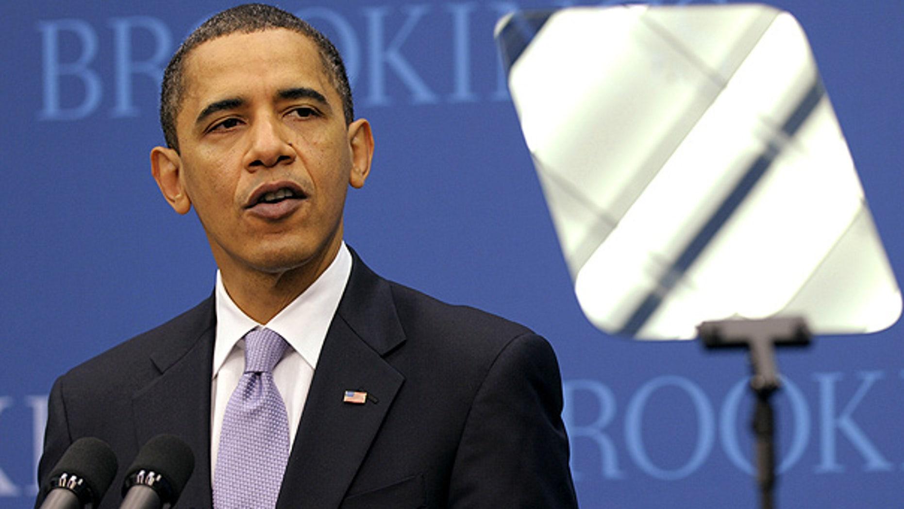 Dec. 8: President Obama speaks at the Brookings Institution in Washington. (AP)