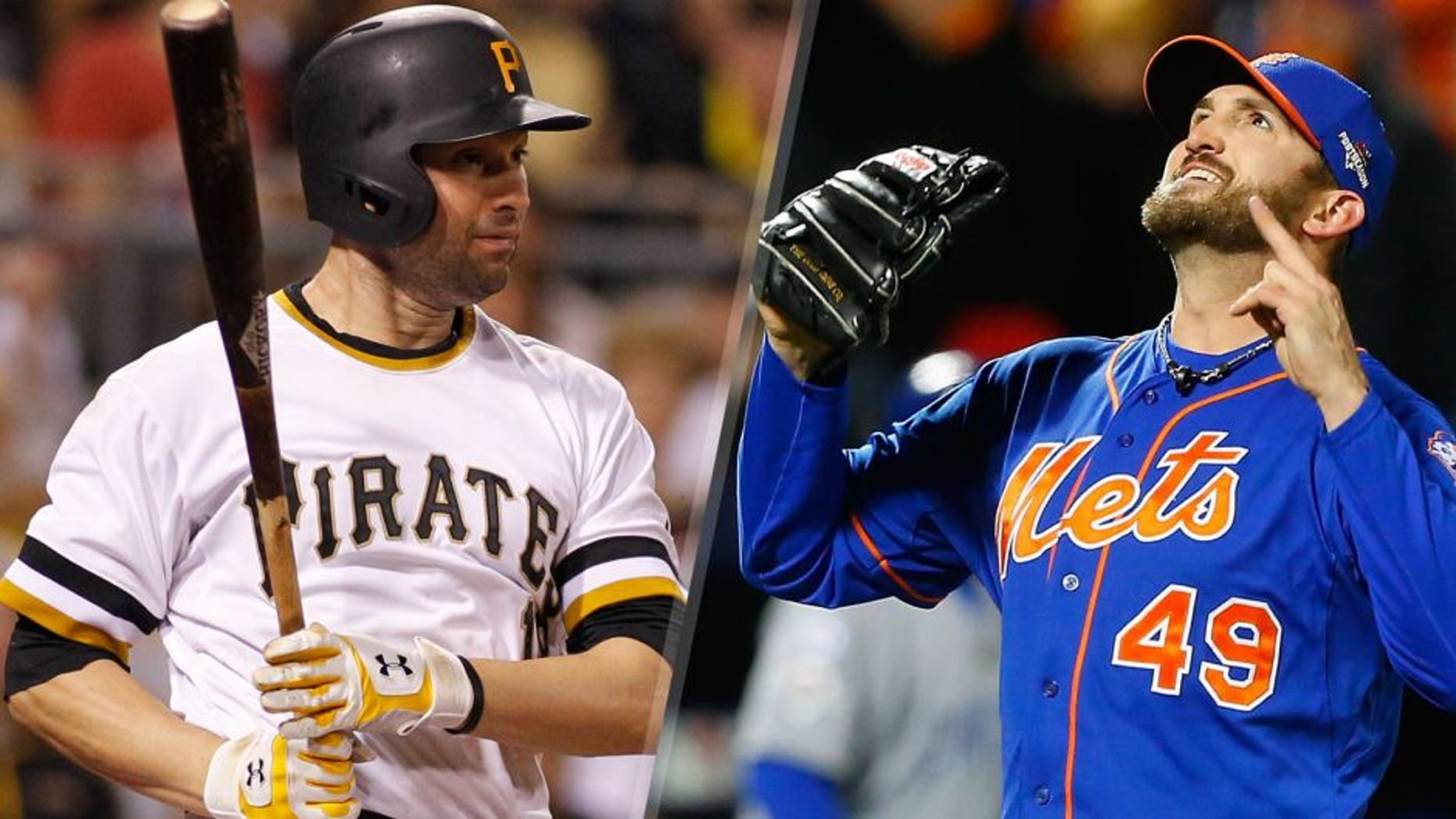 Neil Walker #18 of the Pittsburgh Pirates in action during the game against the Chicago Cubs at PNC Park on September 16, 2015 in Pittsburgh, Pennsylvania. (Photo by Justin K. Aller/Getty Images) Jonathon Niese #49 of the New York Mets reacts after getting the final out of the sixth inning against the Chicago Cubs during game two of the 2015 MLB National League Championship Series at Citi Field on October 18, 2015 in the Flushing neighborhood of the Queens borough of New York City. The Mets defeated the Cubs 4-1. (Photo by Jim McIsaac/Getty Images)