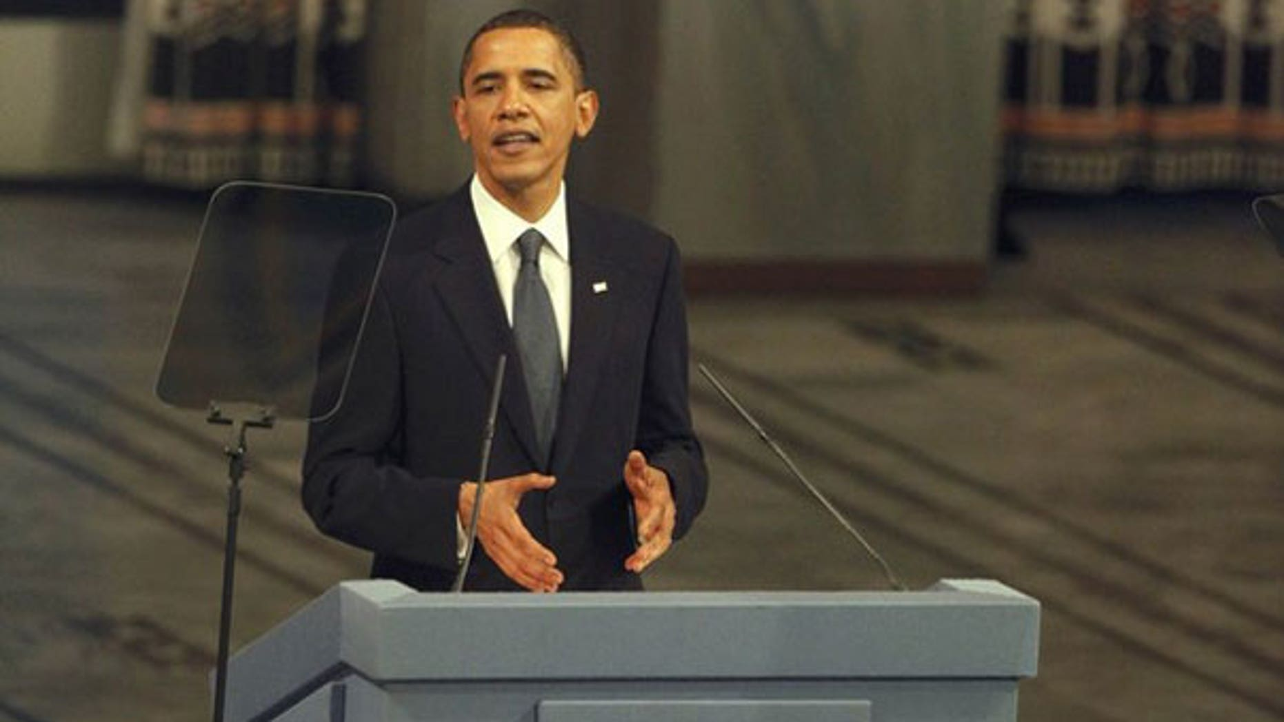 Dec. 10: Nobel Peace Prize laureate President Obama delivers the Nobel Lecture during the Nobel Peace Prize award ceremony in Oslo City Hall (Reuters).