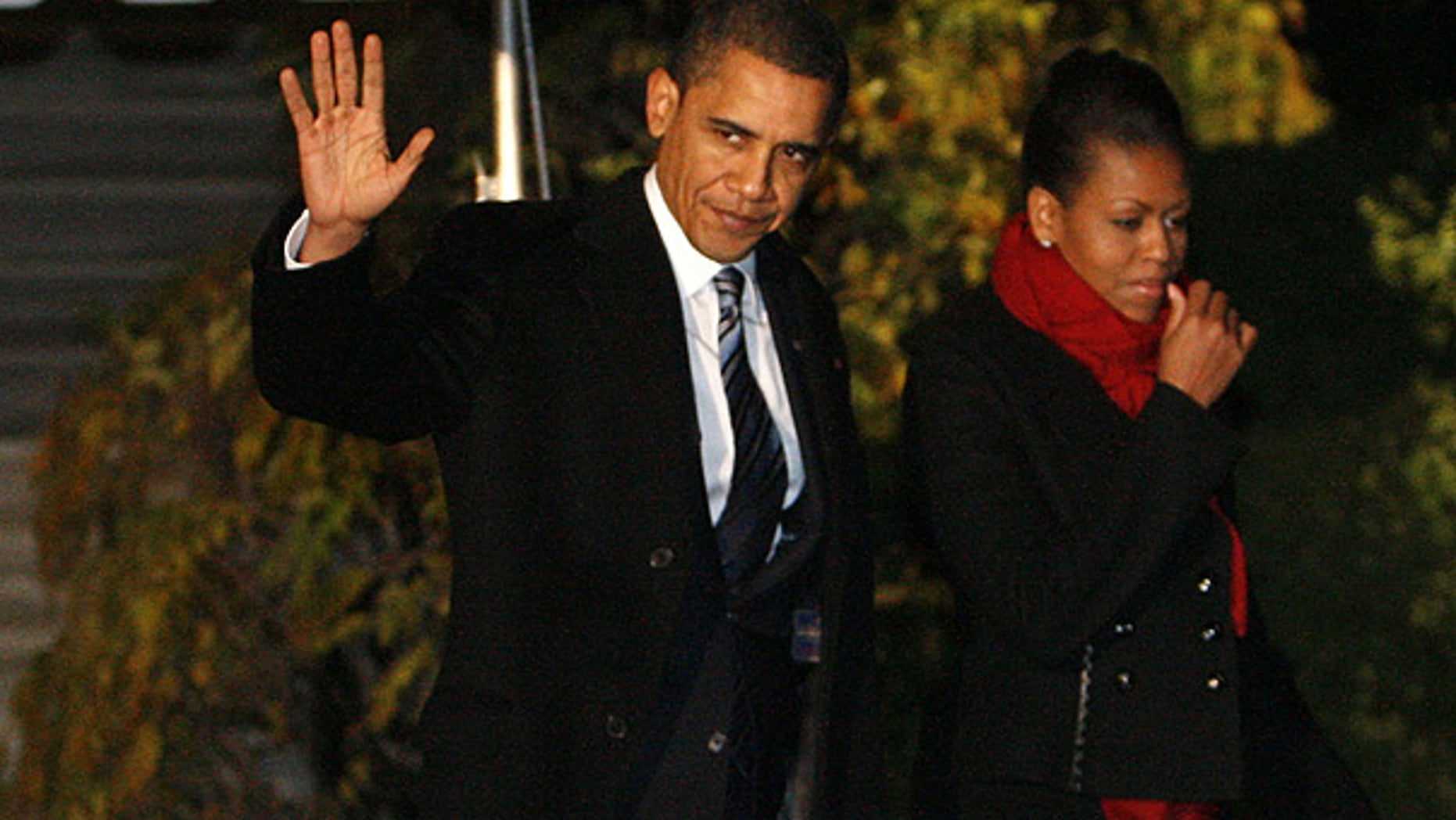 Dec. 9: President Obama and first lady Michelle Obama depart the White House en route to Oslo, Norway. (AP)