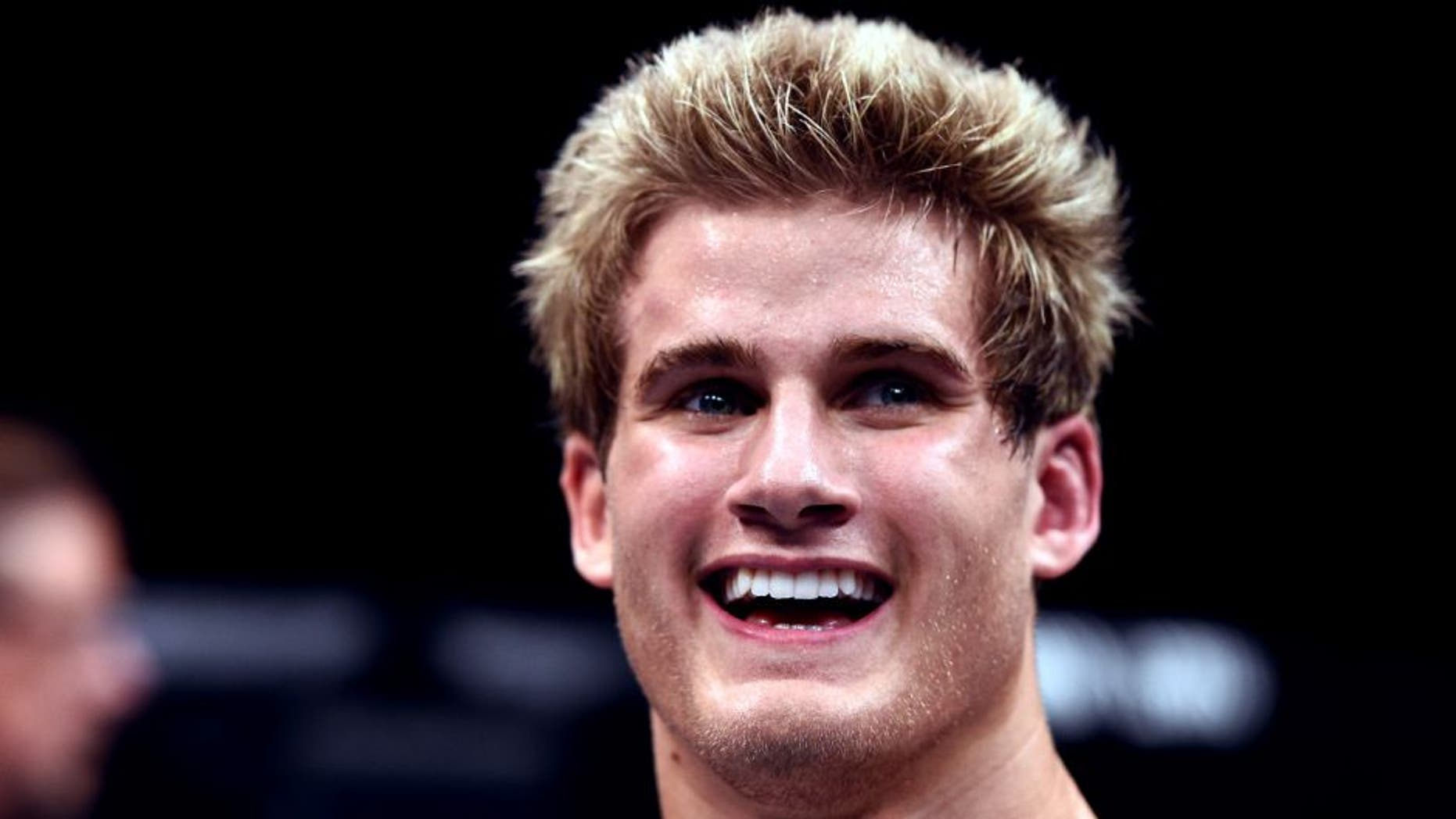LAS VEGAS, NEVADA - DECEMBER 10: Sage Northcutt celebrates his win over Cody Pfister in their lightweight bout during the UFC Fight Night event at The Chelsea at the Cosmopolitan of Las Vegas on December 10, 2015 in Las Vegas, Nevada. (Photo by Jeff Bottari/Zuffa LLC/Zuffa LLC via Getty Images)