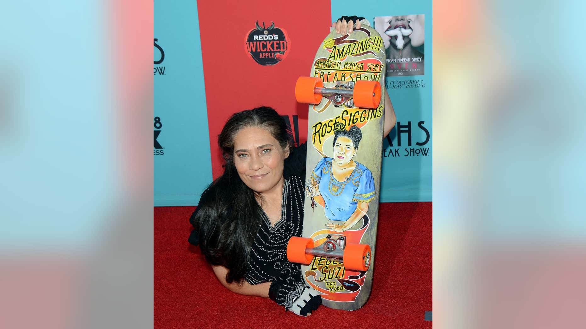 """FILE - In this Sunday, Oct. 5, 2014 file photo, Rose Siggins attends the premiere screening of """"American Horror Story: Freak Show"""" at the TCL Chinese Theatre in Los Angeles."""