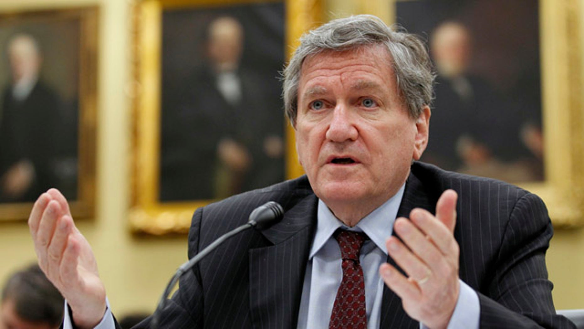 In this July 28, 2010, file photo Richard Holbrooke, Special Representative for Afghanistan and Pakistan, testifies on Capitol Hill in Washington before the House State and Foreign Operations subcommittee hearing on the oversight of U.S. civilian assistance for Afghanistan.