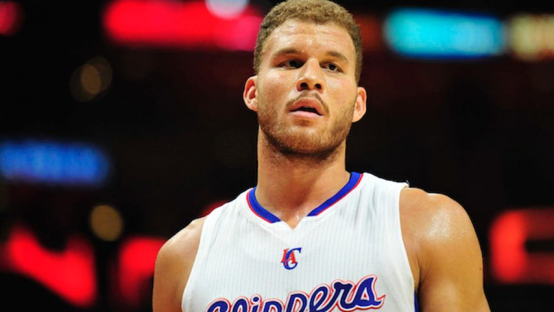 November 15, 2014; Los Angeles, CA, USA; Los Angeles Clippers forward Blake Griffin (32) during a stoppage in play against the Phoenix Suns during the second half at Staples Center. Mandatory Credit: Gary A. Vasquez-USA TODAY Sports