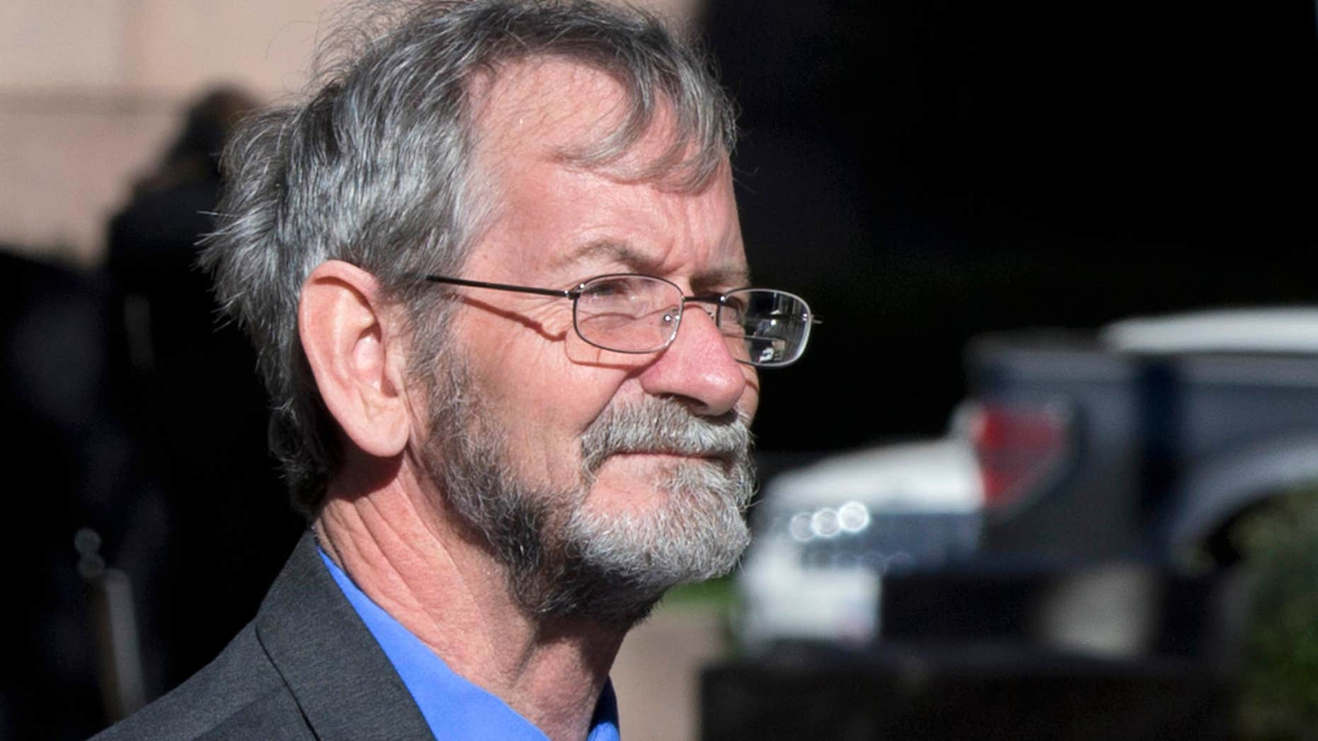 Nov. 20, 2015: Douglas Hughes, who flew a gyrocopter through the National Mall before landing on Capitol, arrives for a plea hearing at the federal courthouse in Washington.