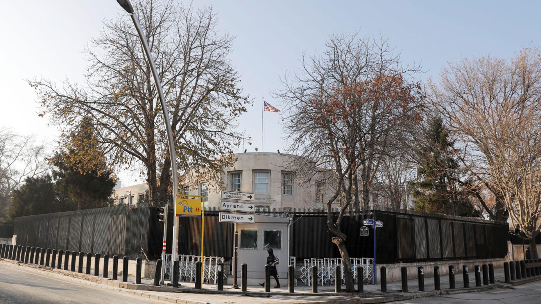 General view of the U.S. Embassy in Ankara.