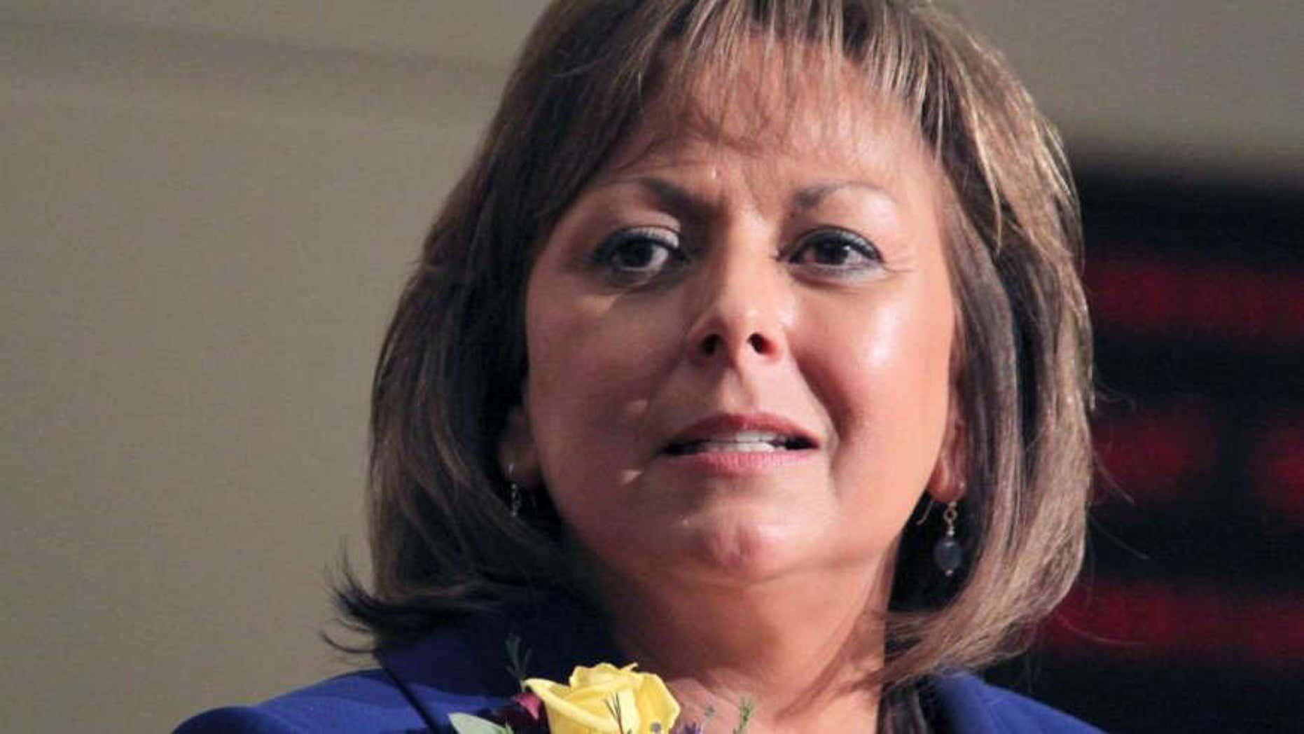 New Mexico Gov. Susana Martinez speaks in Santa Fe.