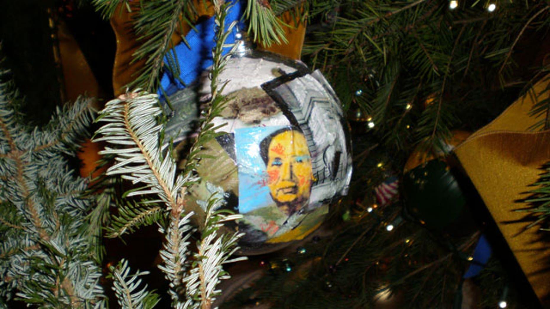Barack Obama Christmas Tree Ornament