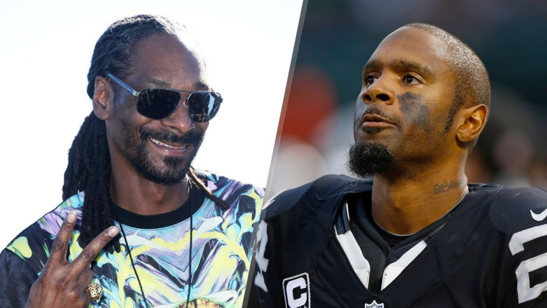 INGLEWOOD, CA - NOVEMBER 19: Rapper Snoop Dogg attends the 2nd annual Thanksgiving turkey giveaway at The Forum on November 19, 2015 in Inglewood, California. (Photo by Matt Winkelmeyer/Getty Images) OAKLAND, CA - DECEMBER 06: Free safety Charles Woodson #24 of the Oakland Raiders stands on the sidelines against the Kansas City Chiefs during the fourth quarter at O.co Coliseum on December 6, 2015 in Oakland, California. The Kansas City Chiefs defeated the Oakland Raiders 34-20. Photo by Jason O. Watson/Getty Images)