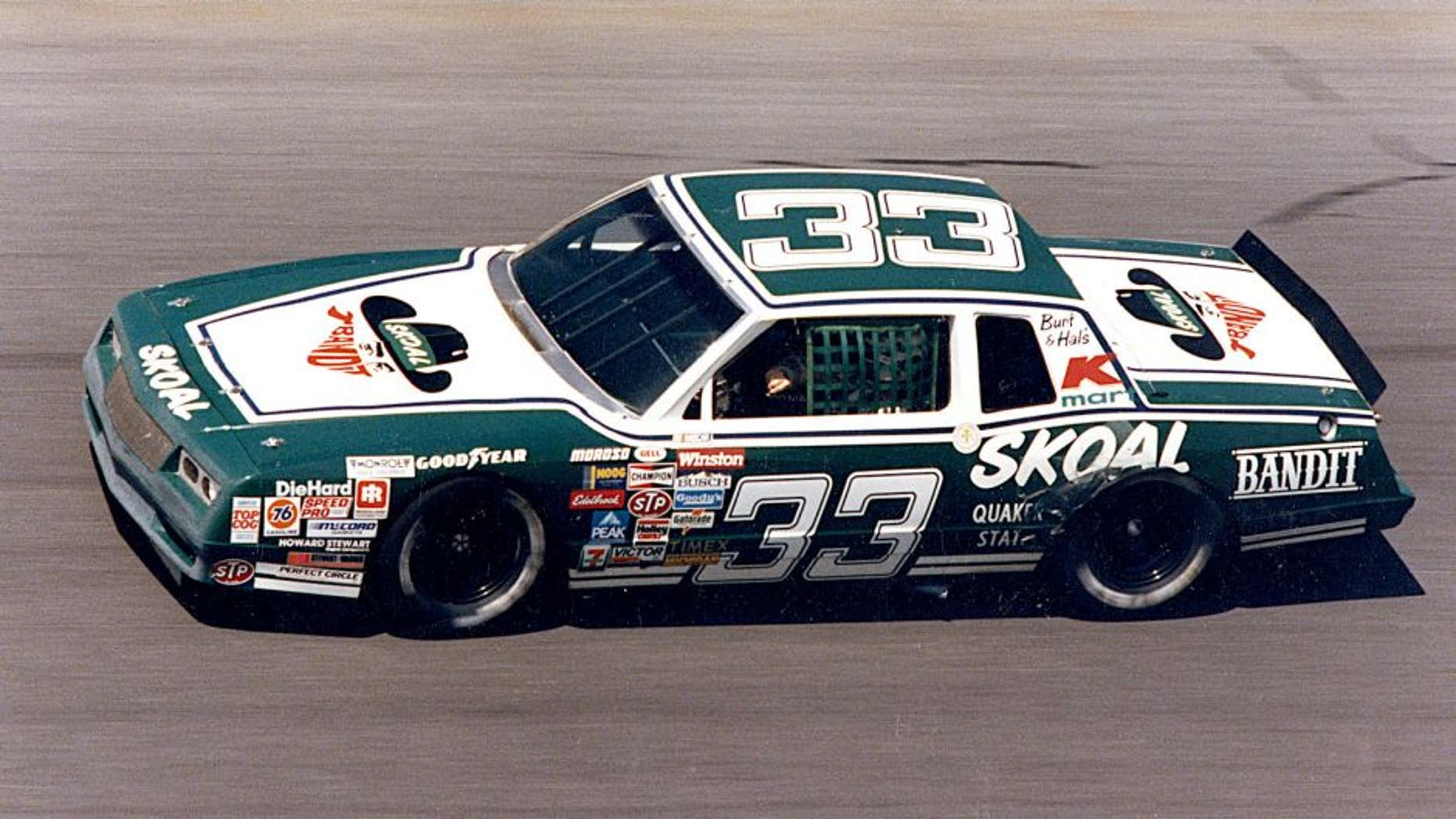 DAYTONA BEACH, FL ? 1984: Driving the Skoal Bandit Chevrolet for car owners Hal Needham and Burt Reynolds, Harry Gant had a good year at Daytona International Speedway, finishing sixth in the Daytona 500 and second in the Firecracker 400. (Photo by ISC Images & Archives via Getty Images)