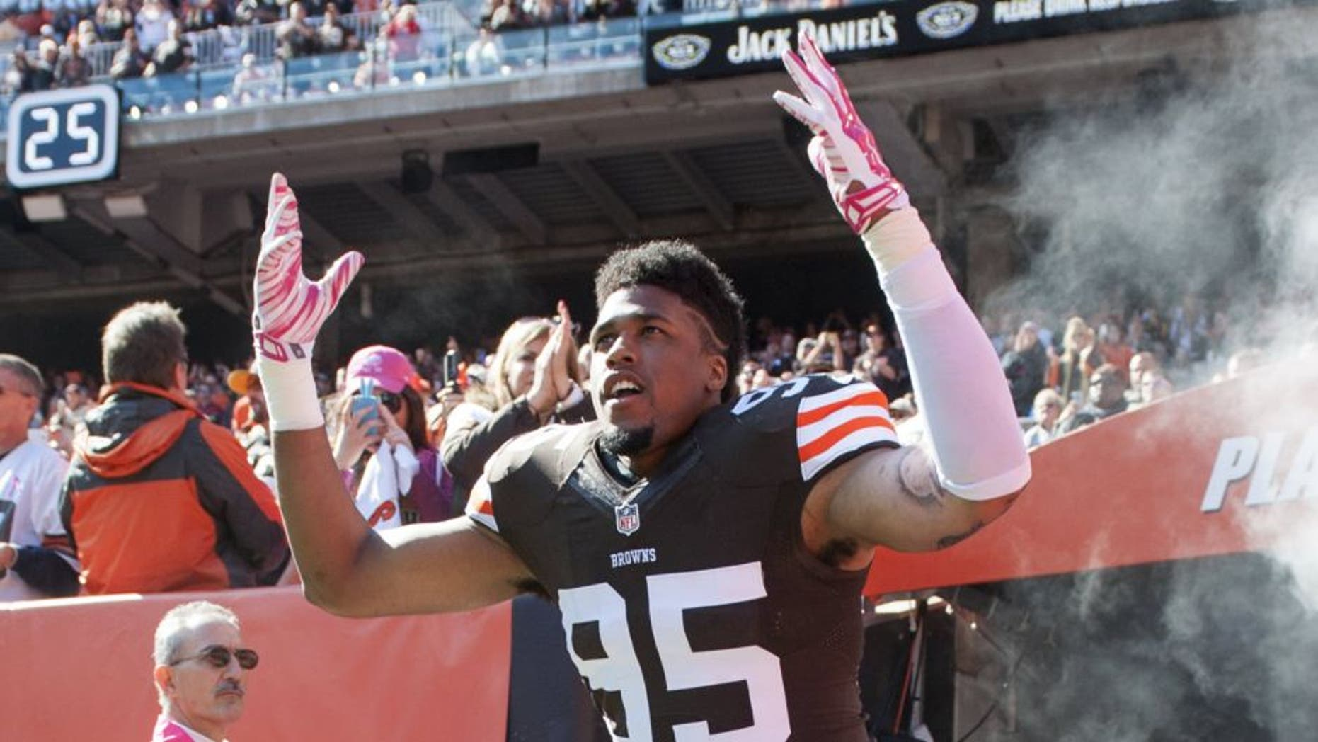 Browns linebakcer Armonty Bryant will be inactive for Sunday's game after being arrested early Friday morning.