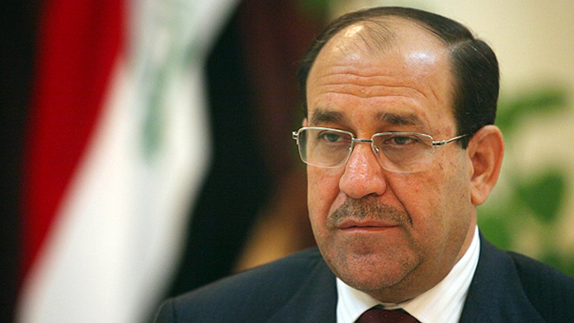 In this Feb. 28, 2010 file photo, Iraq's Prime Minister Nouri al-Maliki is shown during an interview with The Associated Press in Baghdad, Iraq. (AP)