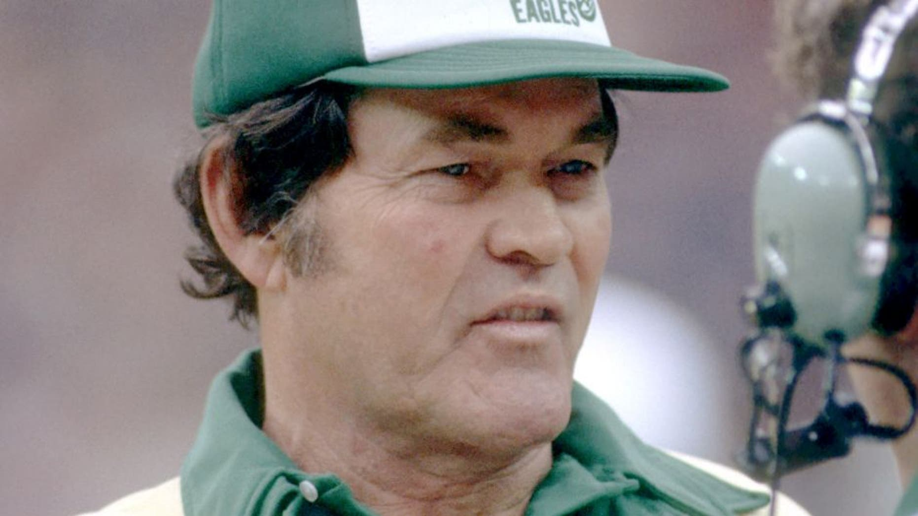 PHILADELPHIA - CIRCA 1984: Head coach Marion Campbell of the Philadelphia Eagles on the sideline during a game at Veterans Stadium circa 1984 in Philadelphia, Pennsylvania. (Photo by George Gojkovich/Getty Images) *** Local Caption *** Marion Campbell