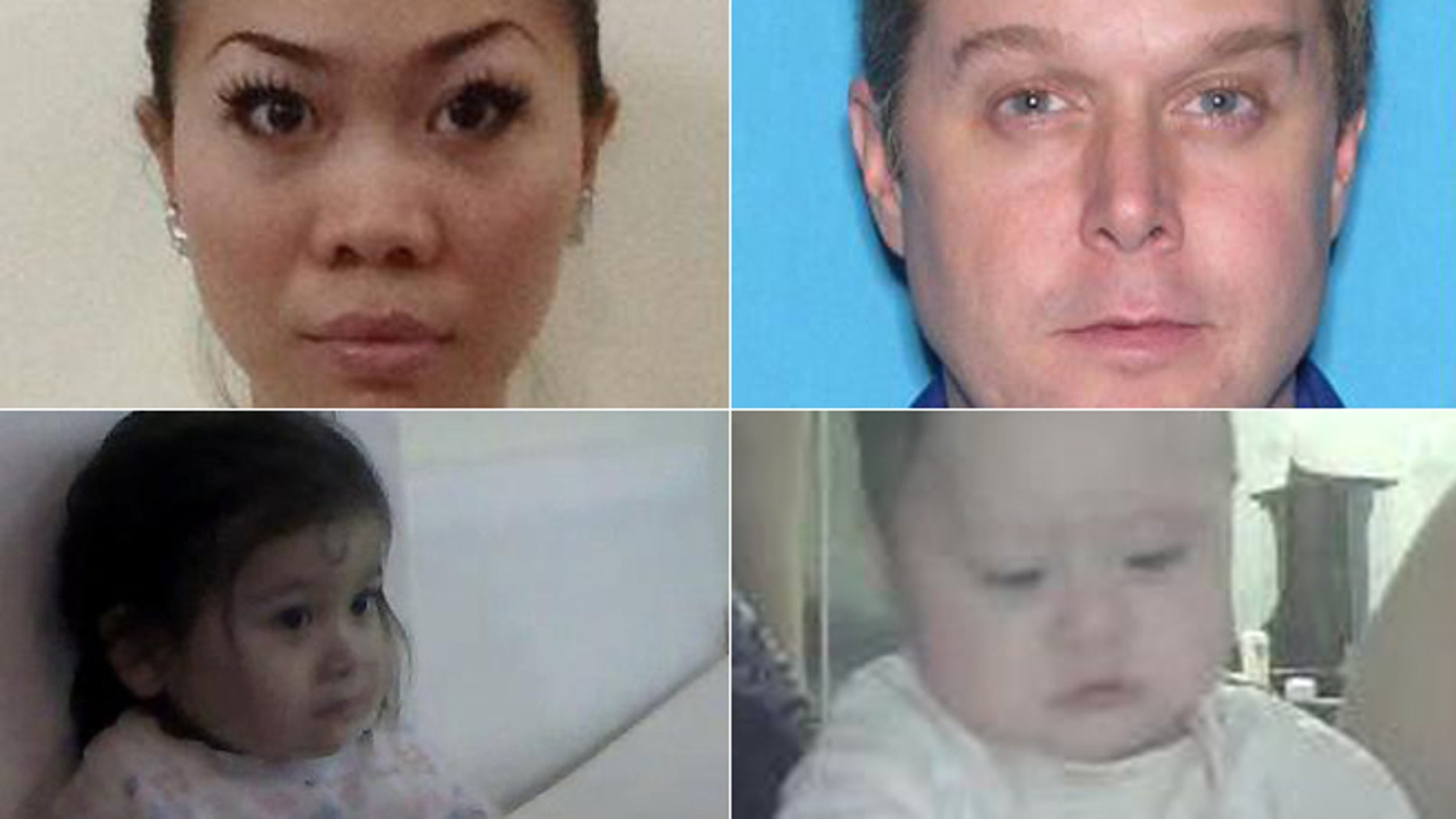 Mai Thi Tuyet Dang, top left, James Firth, and children Chieu 'Kristen' Quan Firth, bottom left, and Trieu 'Kiah' Co Firth were reported missing Nov. 30, 2012.