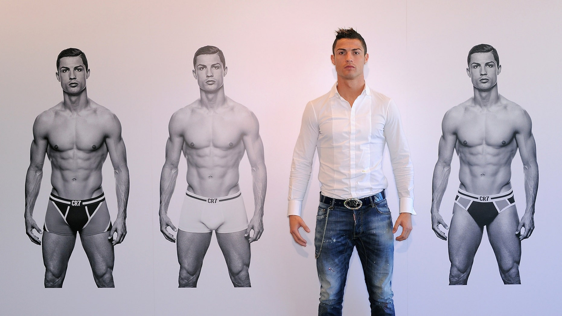 Cristiano Ronaldo launched his CR7 underwear line on October 31, 2013 in Madrid, Spain.