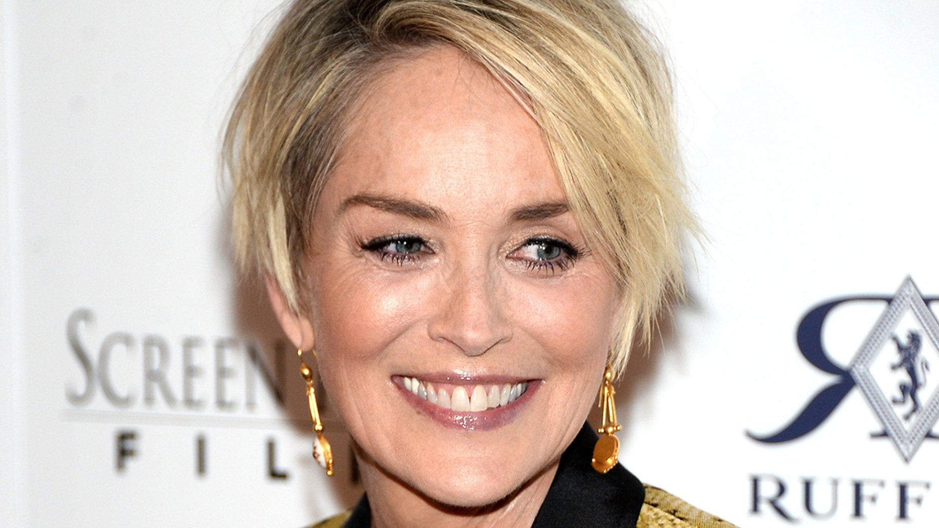 """WEST HOLLYWOOD, CA - APRIL 28:  Actress Sharon Stone attends the Los Angeles Premiere of Screen Media Film's """"Mothers And Daughters"""" at The London on April 28, 2016 in West Hollywood, California.  (Photo by Matt Winkelmeyer/Getty Images)"""