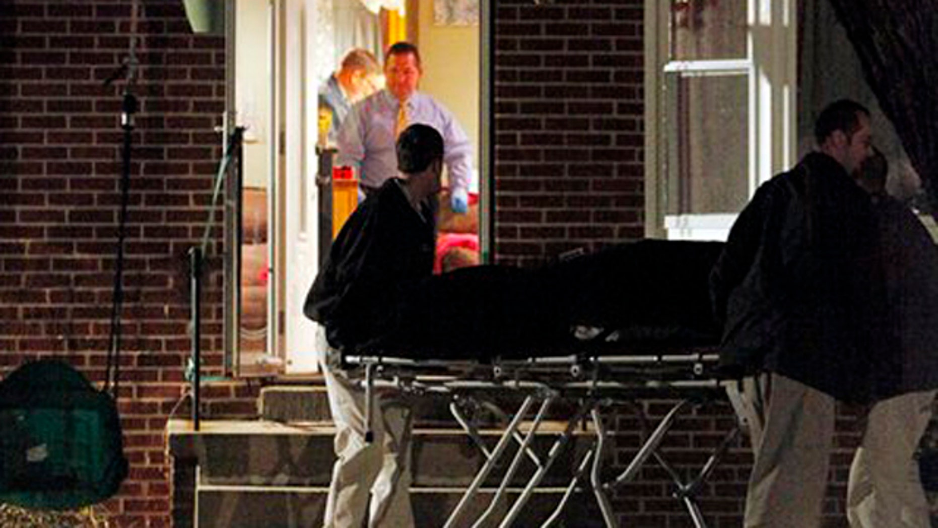 Jan 28, 2012: Multiple bodies are removed from a home in Mechanicsville near Richmond, Virginia.