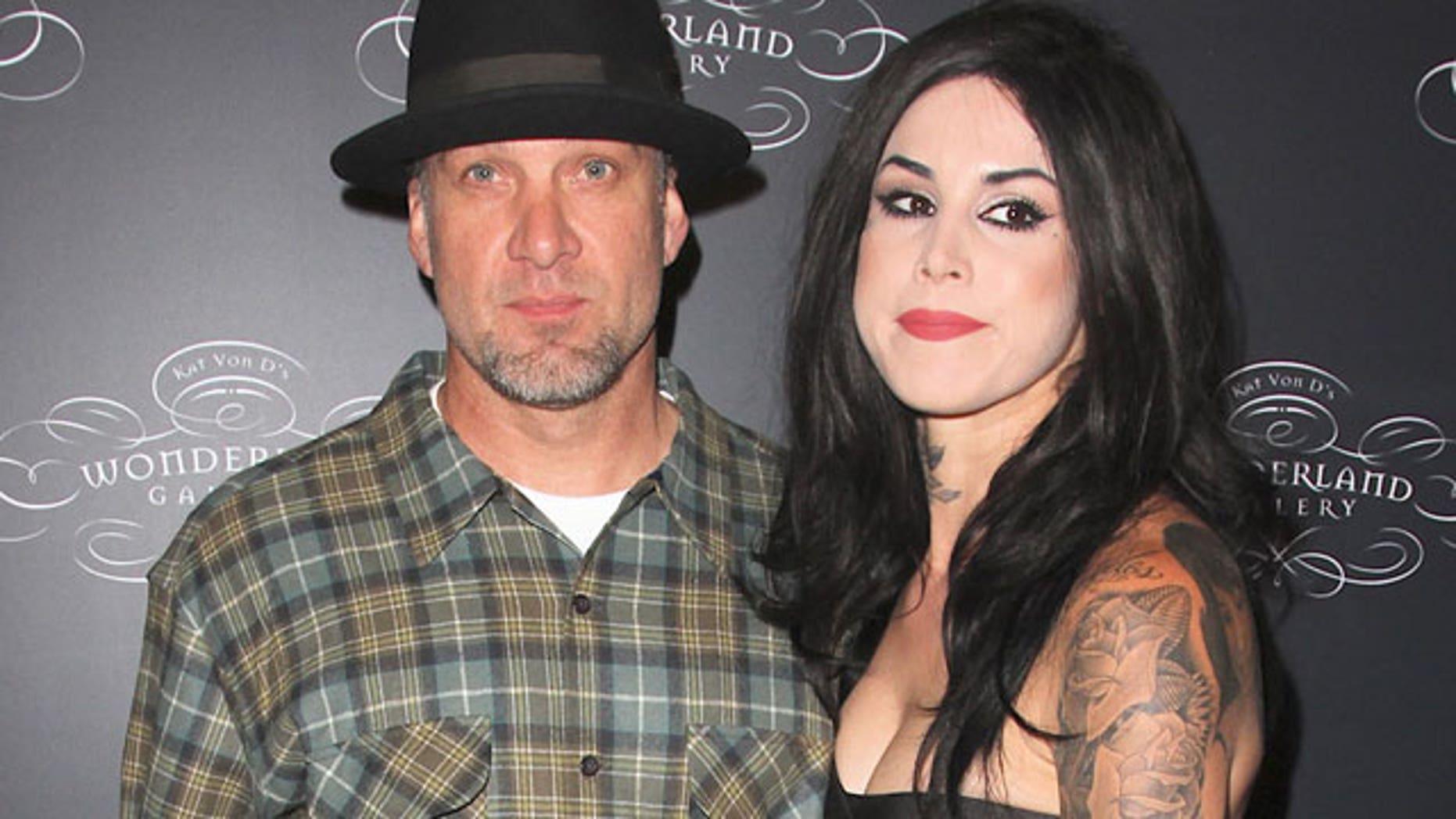 Jesse James and fiancee Kat Von D.