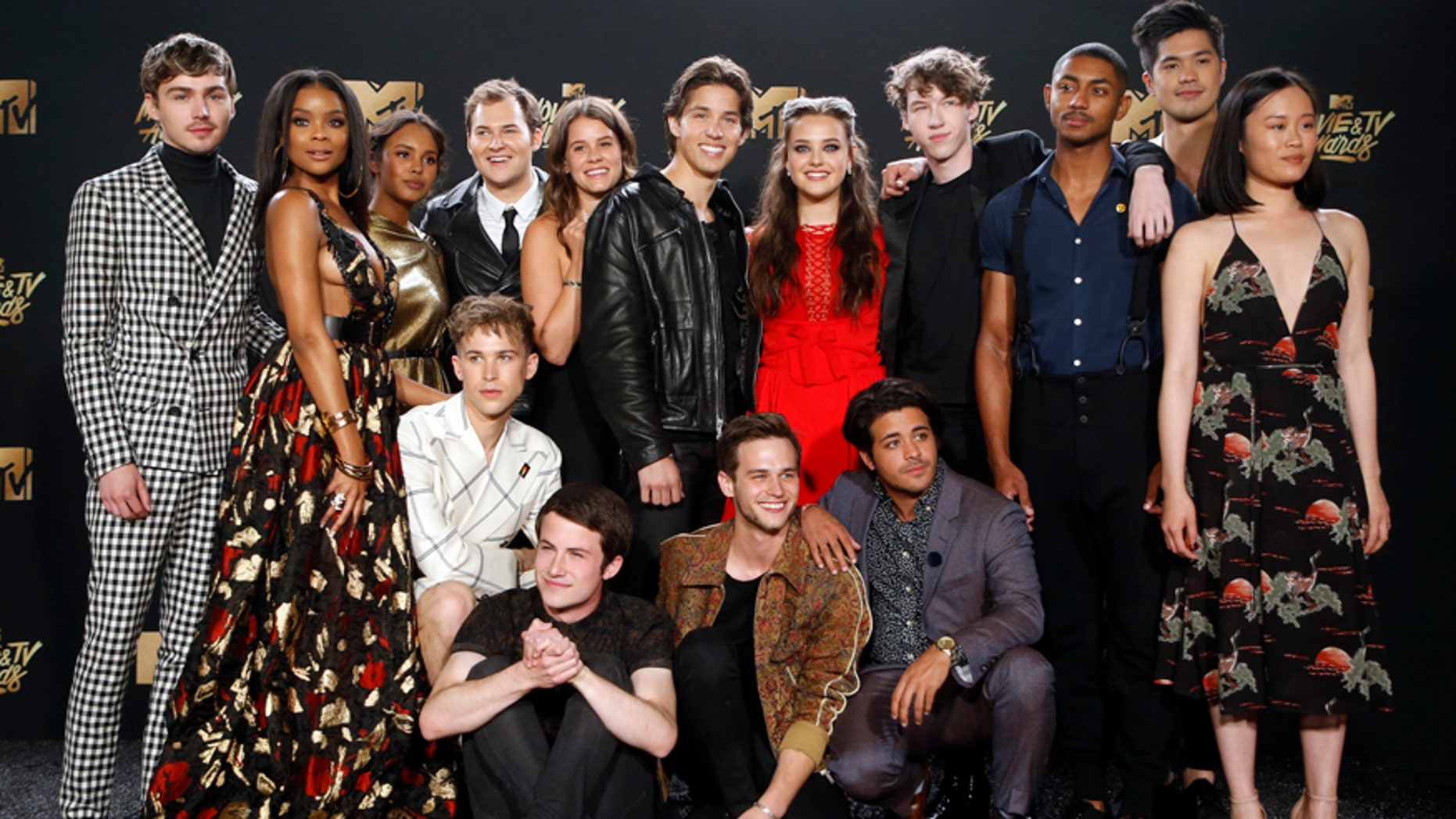 """FILE -- Cast of """"13 Reasons Why""""."""