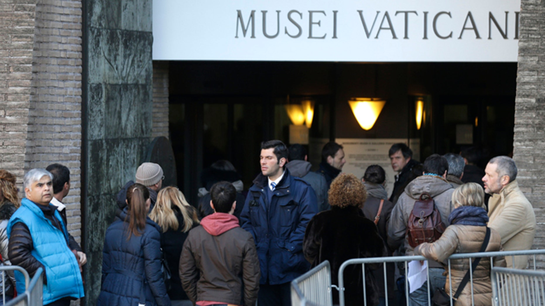 Jan. 3, 2013: People wait in line to enter the Vatican Museums, at the Vatican.