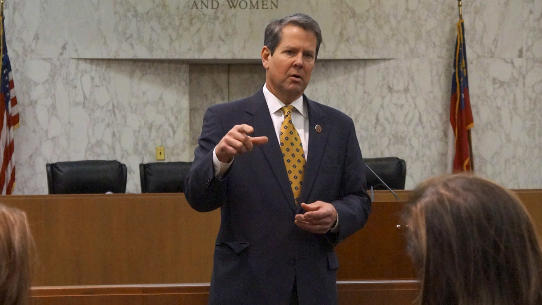 """Brian Kemp, a Republican running for governor in 2018, blamed """"the undeniable ineptitude"""" at the Kennesaw State elections center."""
