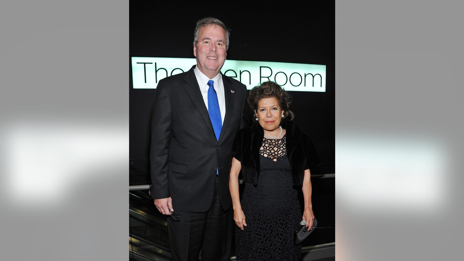 Jeb Bush and wife Columba attend a gala at Lincoln Center on March 7, 2012 in New York City.