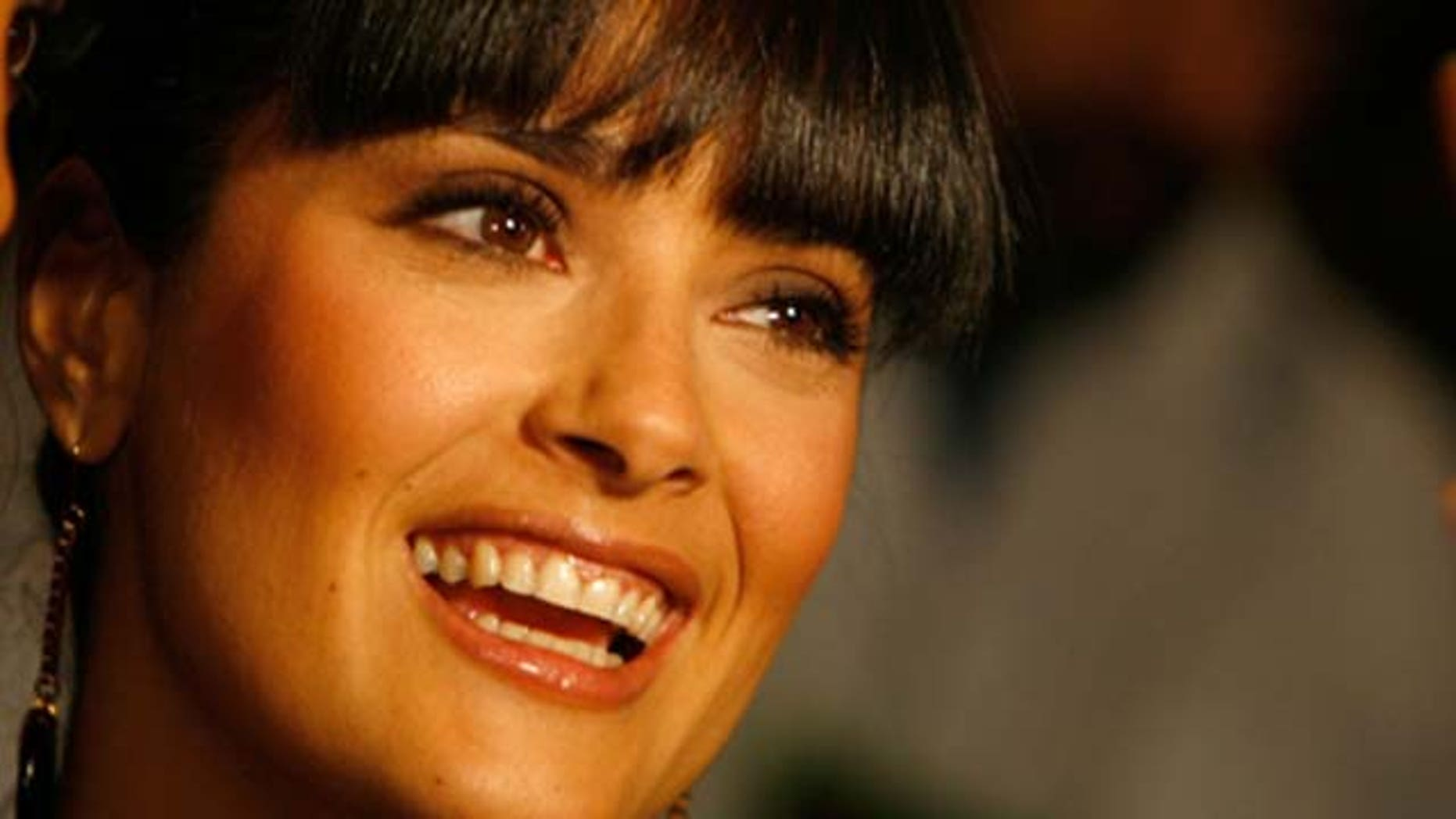 Jan. 23, 2007: Actress Salma Hayek is interviewed after announcing the nominees at the 79th Academy Awards Nominations at the Samuel Goldwyn Theater in Beverly Hills, Calif.