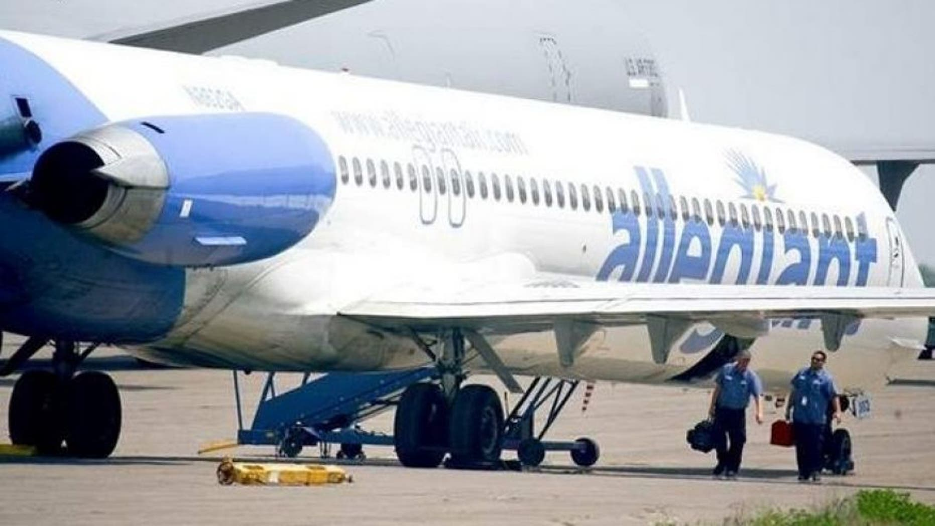Allegiant Airlines plane.