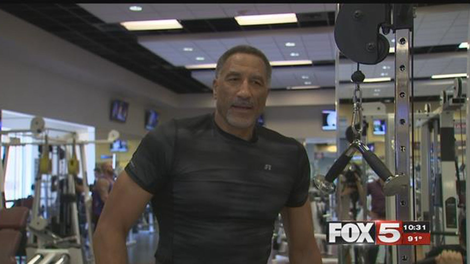 Calvin Roberts, 61, of Las Vegas is training to get a spot in the NBA.