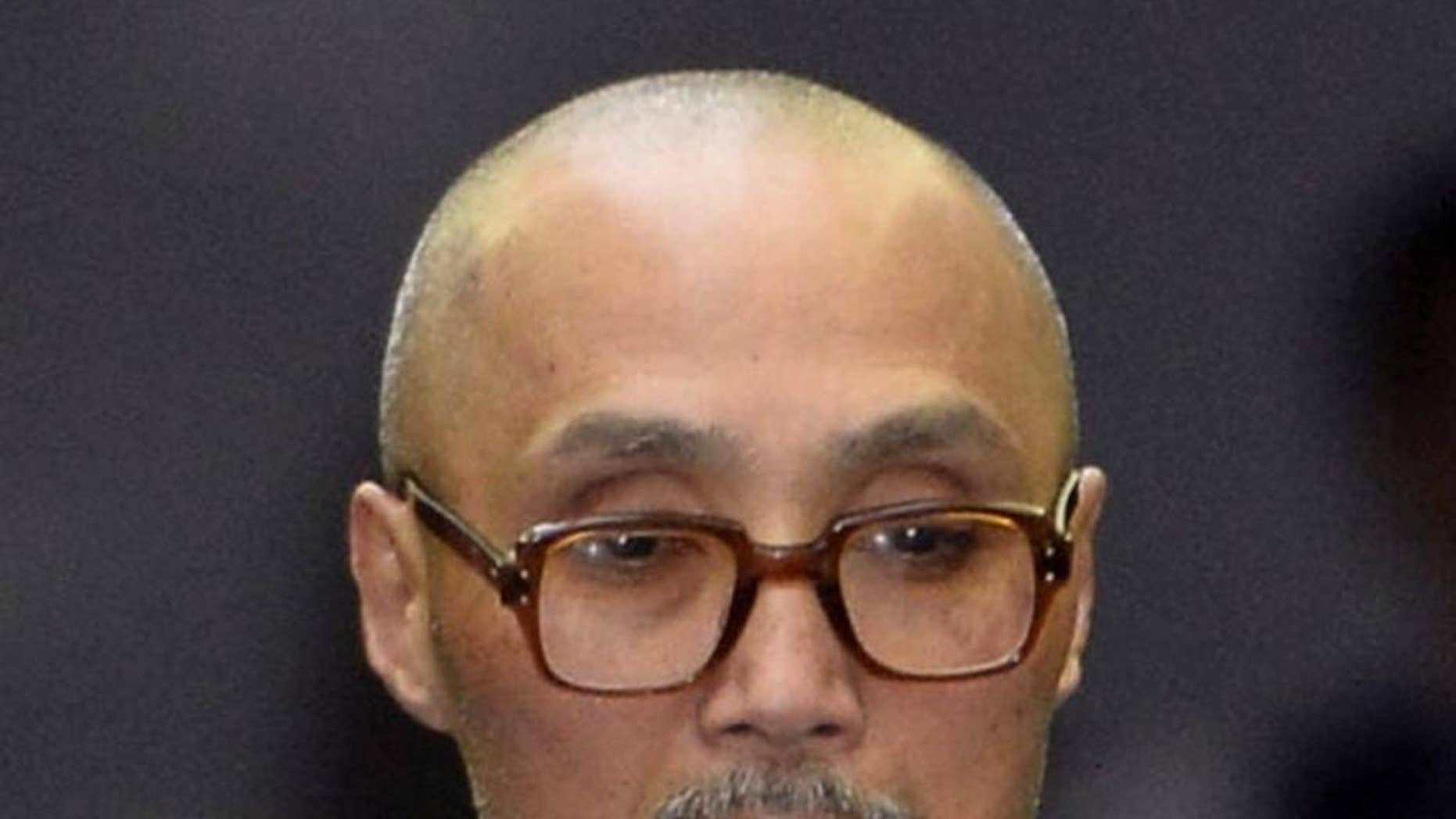 This undated photo shows former Japanese Red Army member Tsutomu Shirosaki. The member of a disbanded Japanese left-wing militant group was sentenced Thursday, Nov. 24, 2016 to 12 years in prison for an unsuccessful 1986 mortar attack on the Japanese Embassy in Indonesia, the Tokyo District Court said. (Kyodo News via AP)